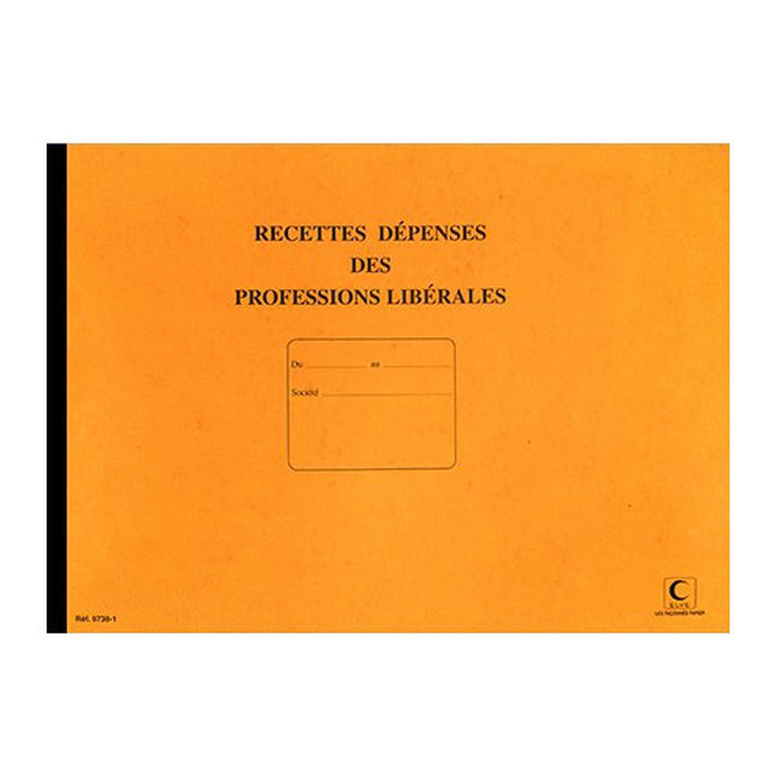 Elve Piqûre Journal Recettes/Dépenses pour professions libérales 270 x 370 mm