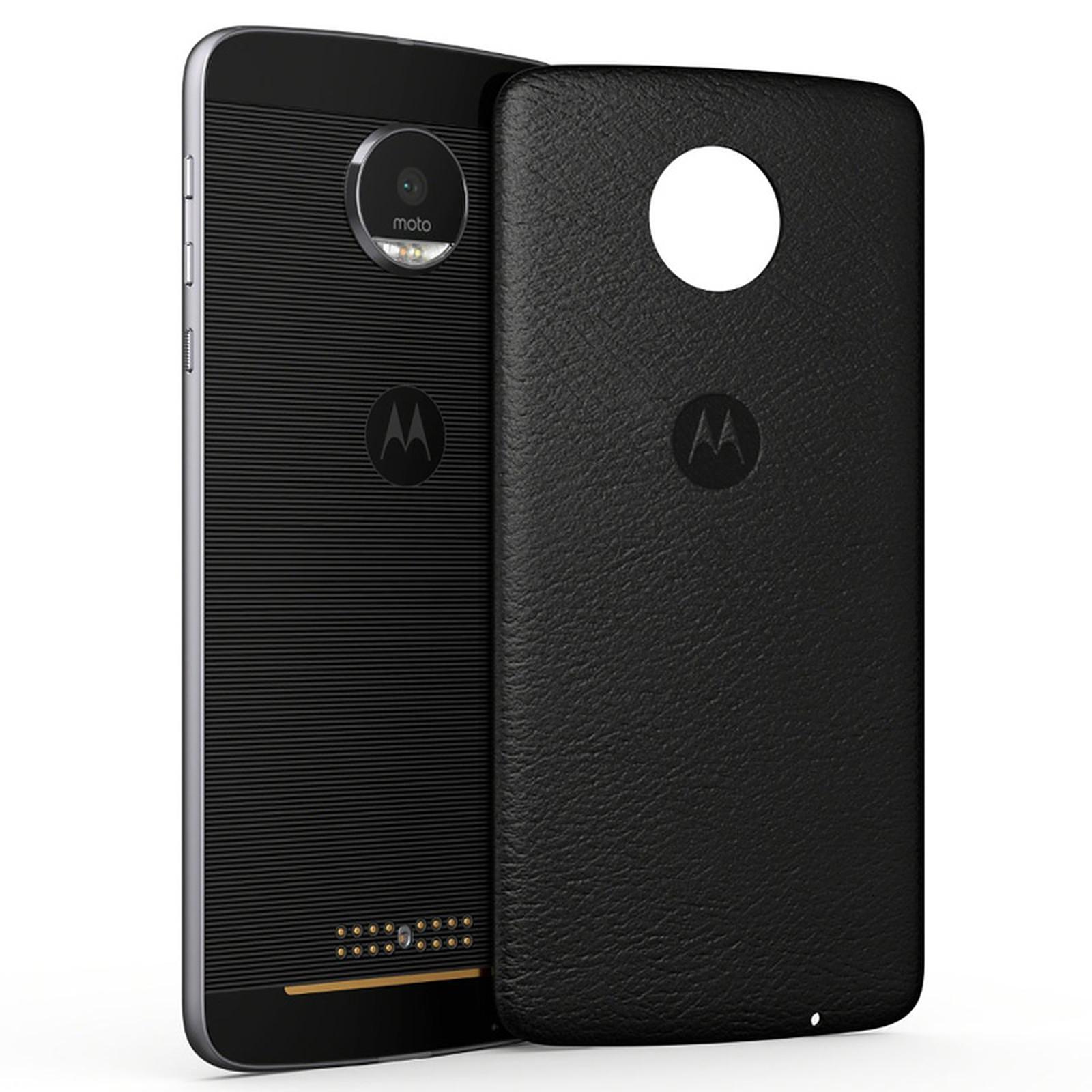 Motorola Mods Coque Cuir Noir Moto Z/Z Play v2