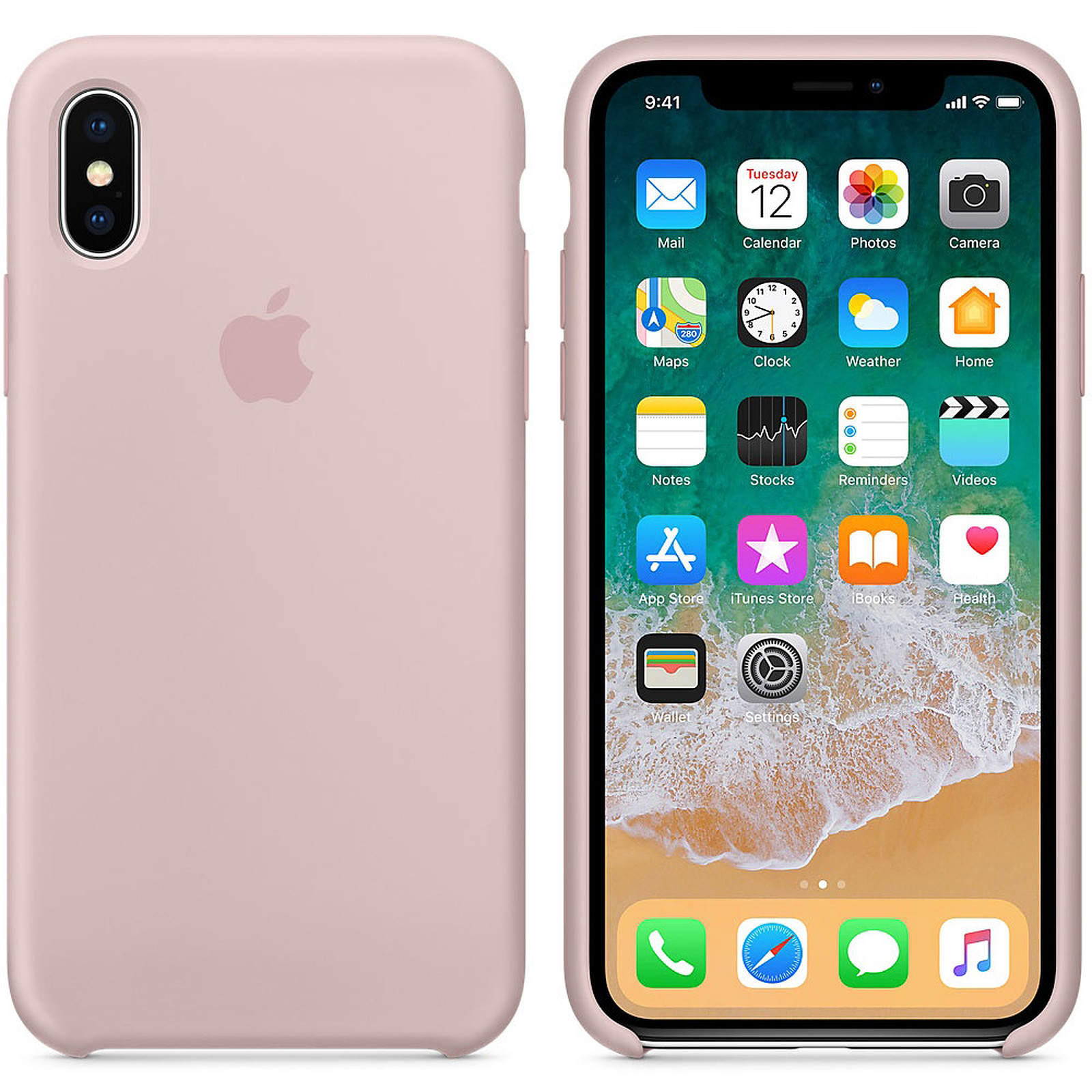coque iphone x cuir apple originale