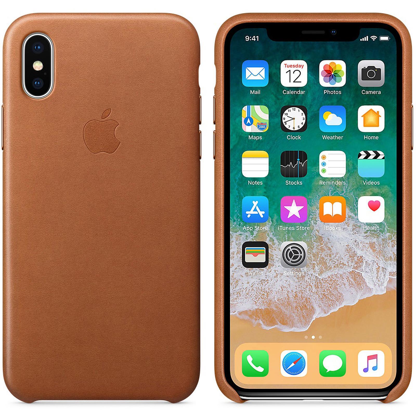 Apple Coque en cuir Havane Apple iPhone X