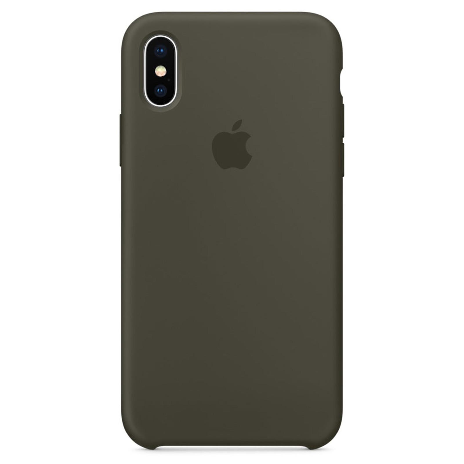 Apple Coque en silicone Olive sombre Apple iPhone X - Coque ...