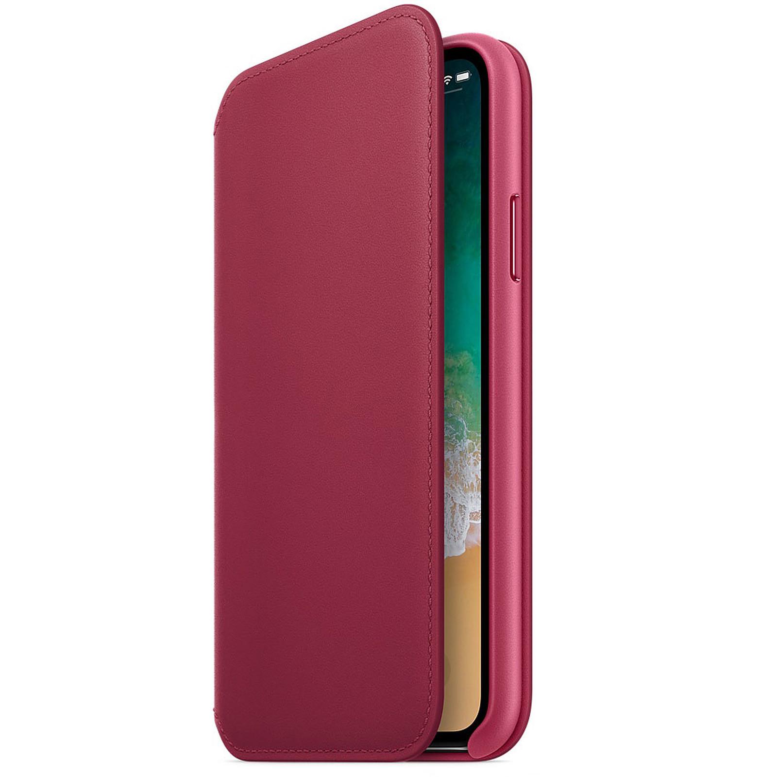 Apple Étui Folio en cuir Fruits rouges Apple iPhone X · Occasion