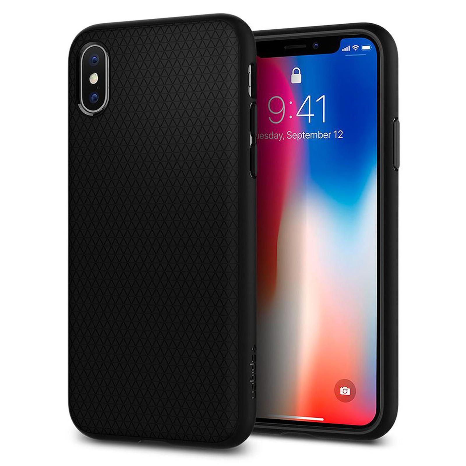 Spigen Case Liquid Air negro Apple iPhone X
