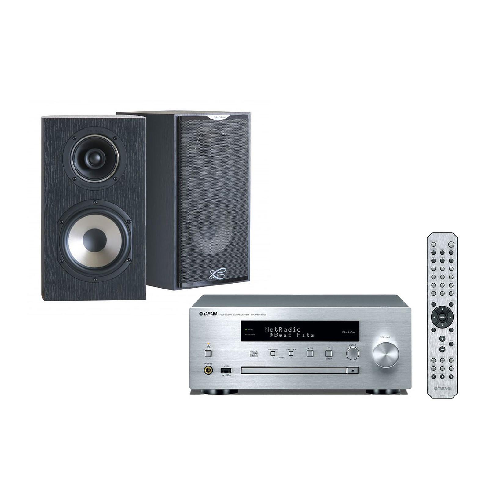 Yamaha MusicCast CRX-N470D Argent + Cabasse Antigua MC170 Ebène