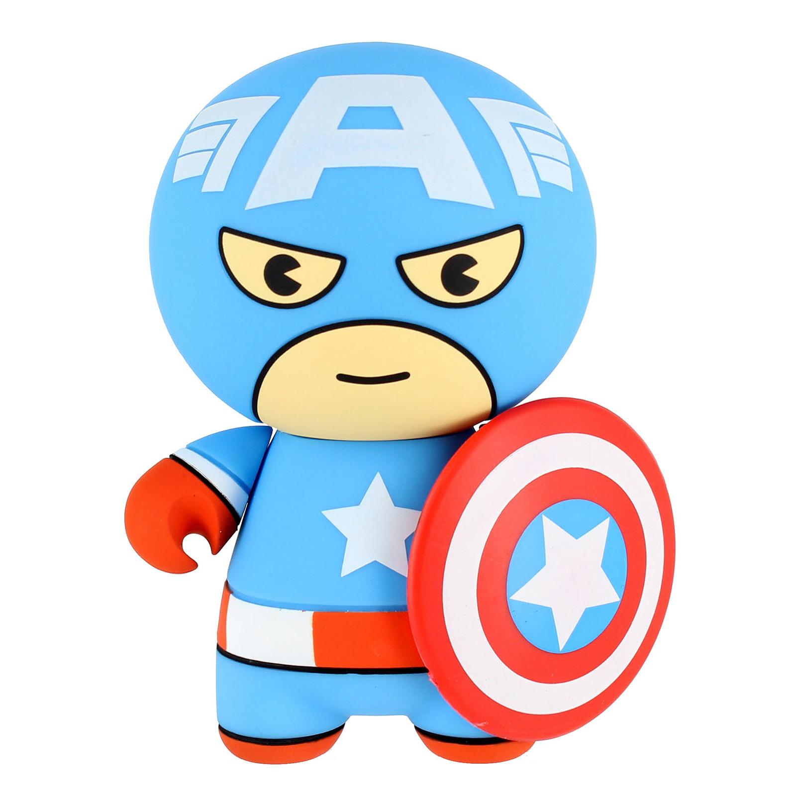 Lazerbuilt Kawaii Powerbank Marvel Captain America 2600 mAh