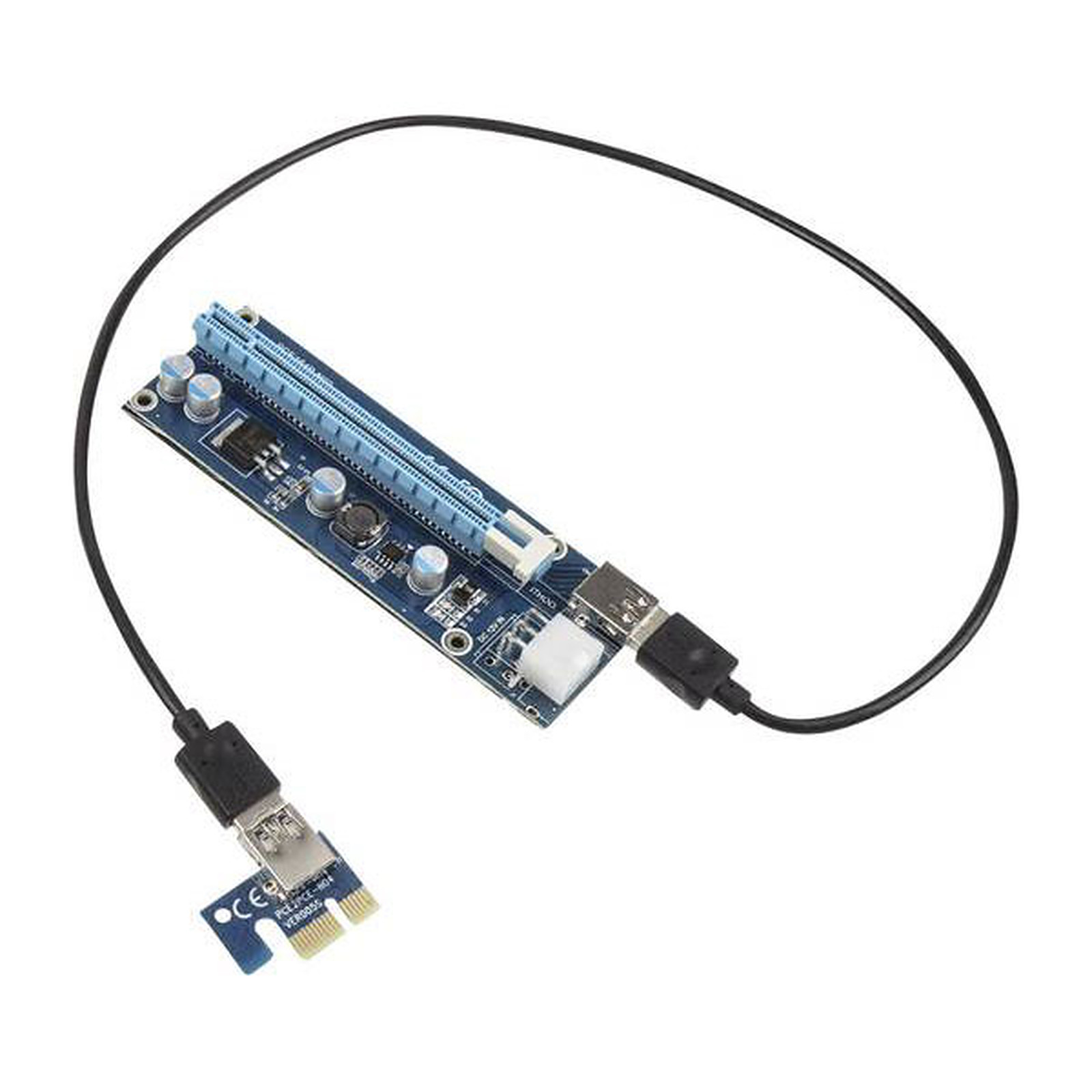 Kolink kit riser PCI-Express 1x vers 16x (PCI-E 6 Broches)