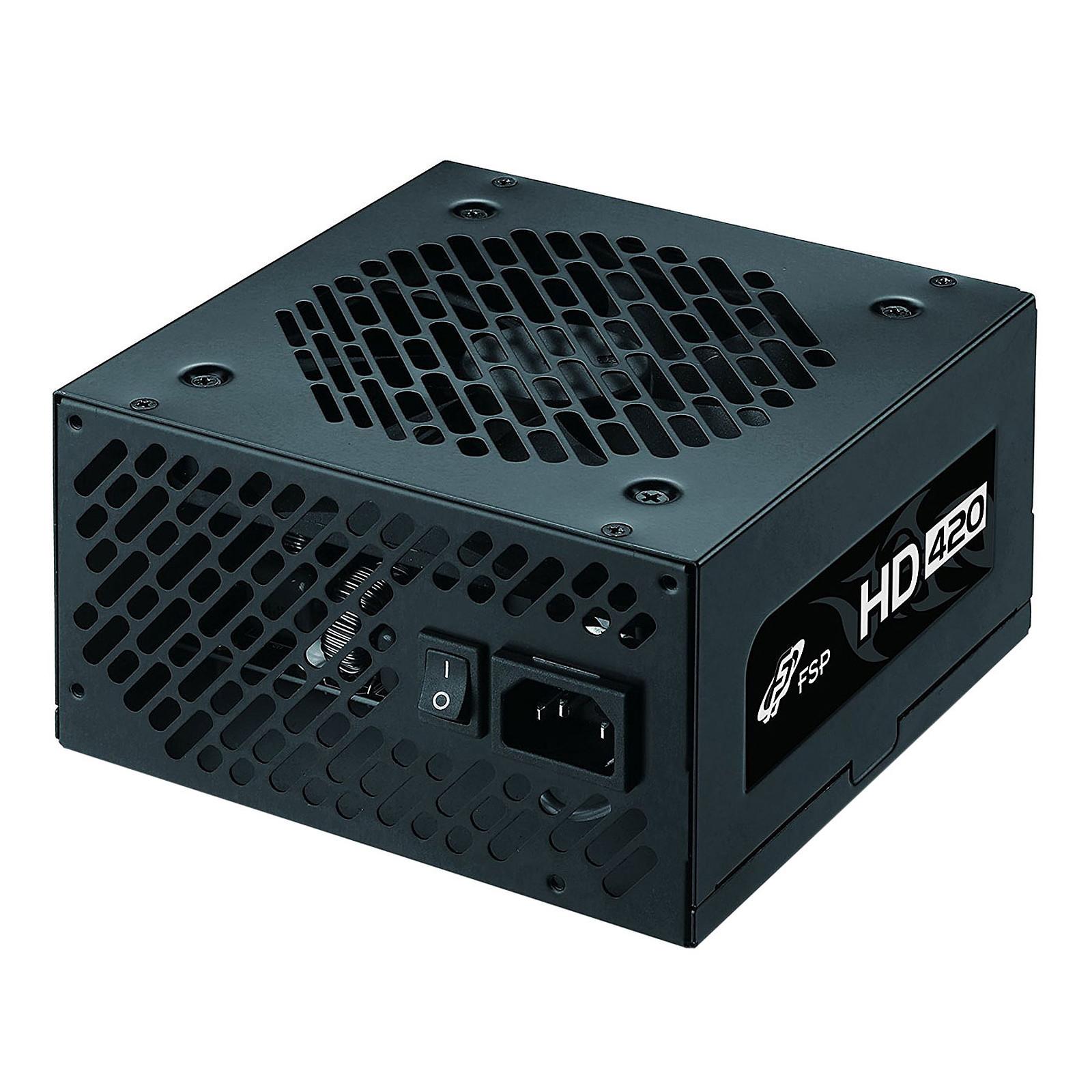FSP HD 420 - Fuente de alimentación de 420 watts 80+ (cables planos) Noir