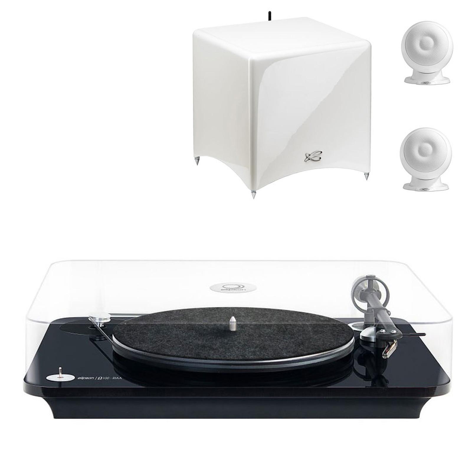 Elipson Omega 100 RIAA Noir + Cabasse Stream 3 Blanc