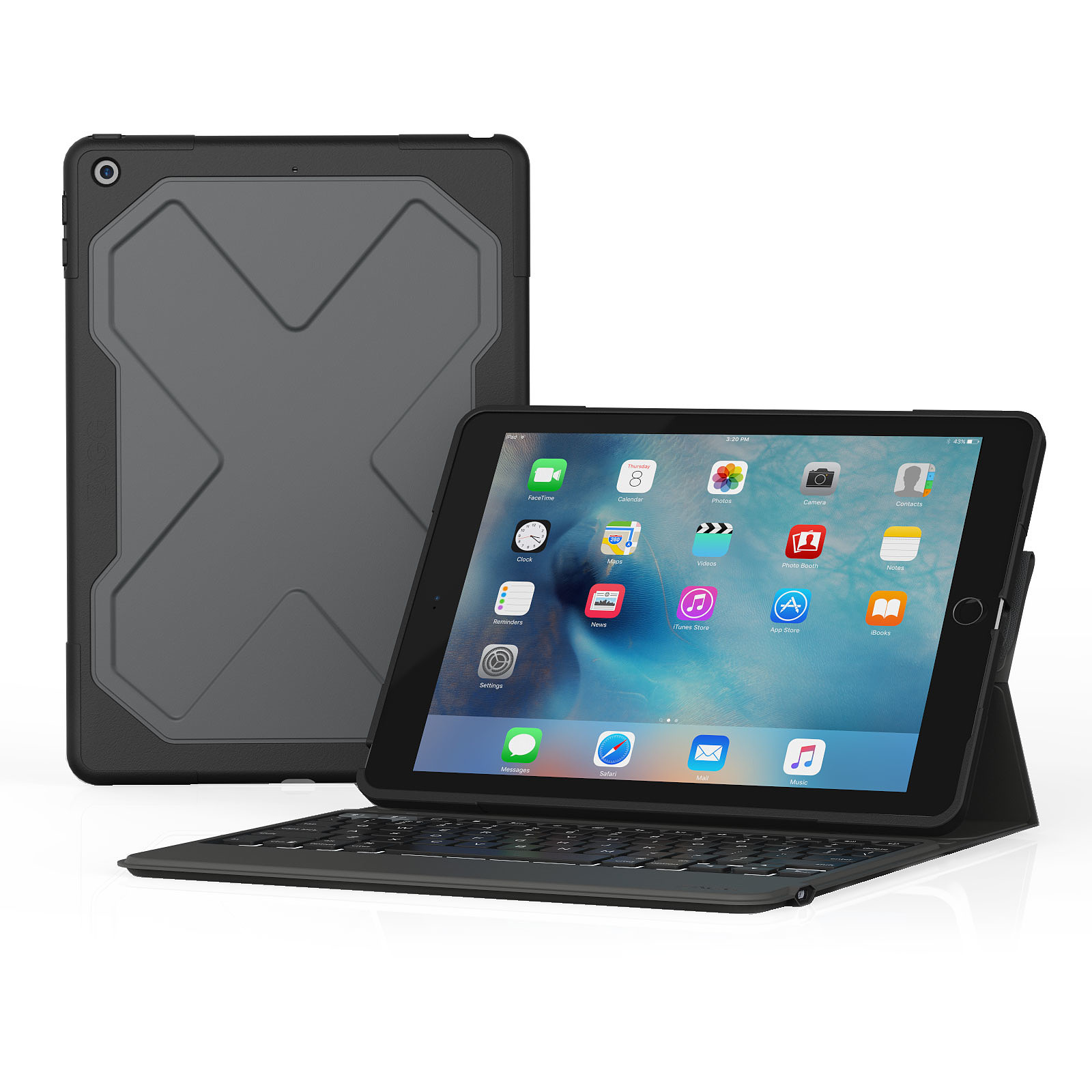 Zagg Rugged Messenger Keyboard Noir iPad 9.7""