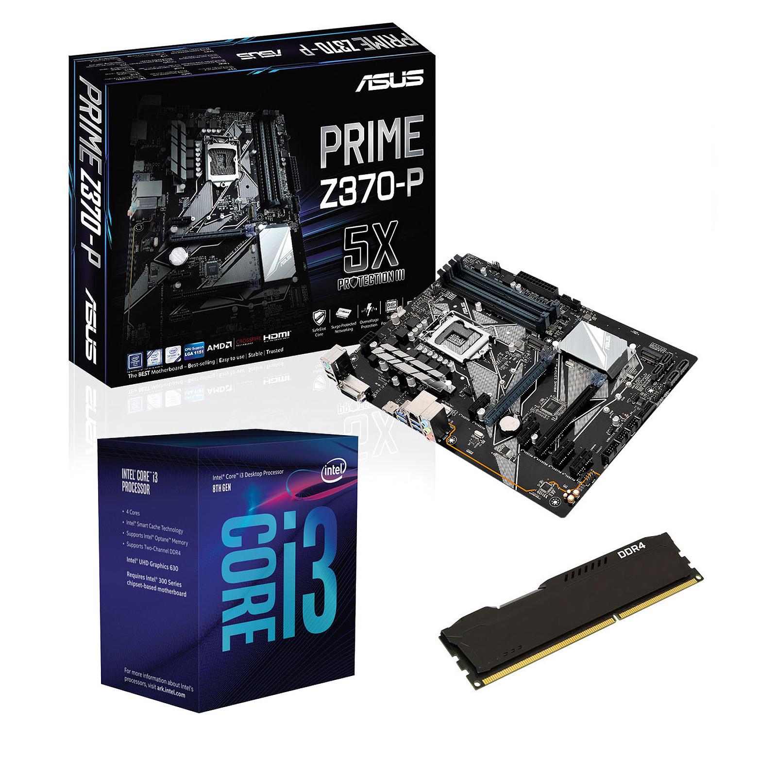 Kit Upgrade PC Core i3 ASUS PRIME Z370-P 4 Go