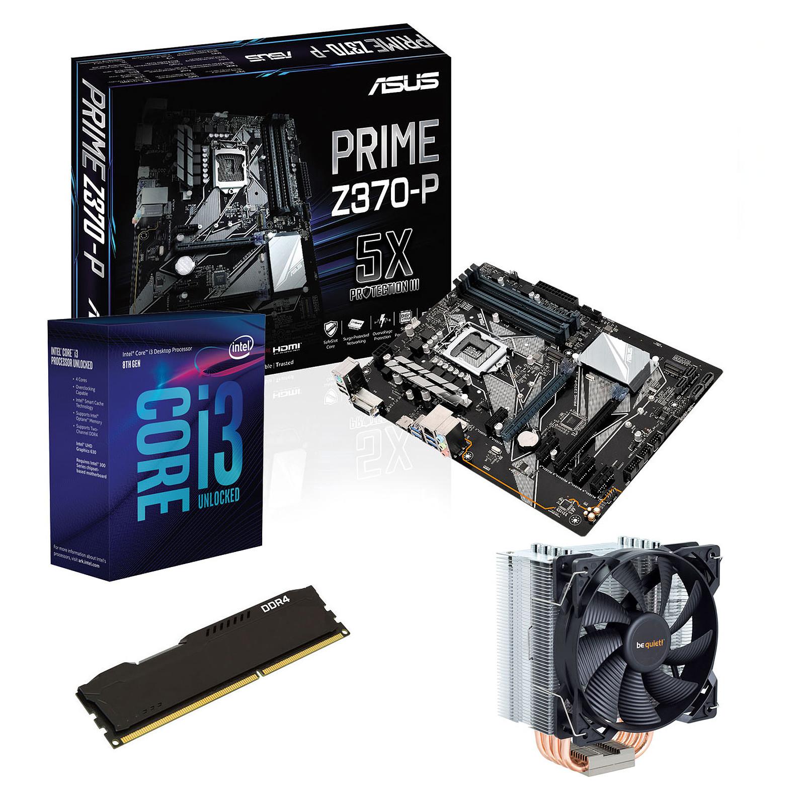 Kit Upgrade PC Core i3K ASUS PRIME Z370-P 4 Go