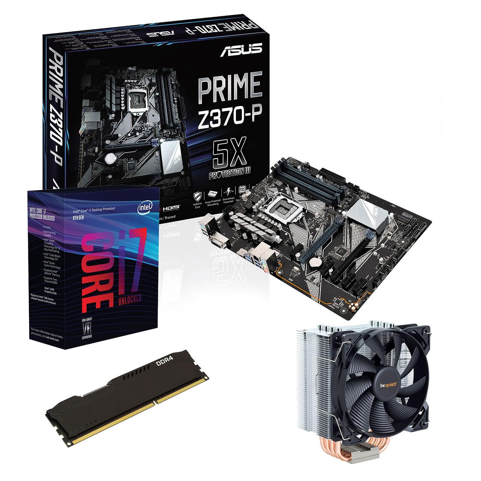 Kit Upgrade PC Core i7K ASUS PRIME Z370-P 8 Go