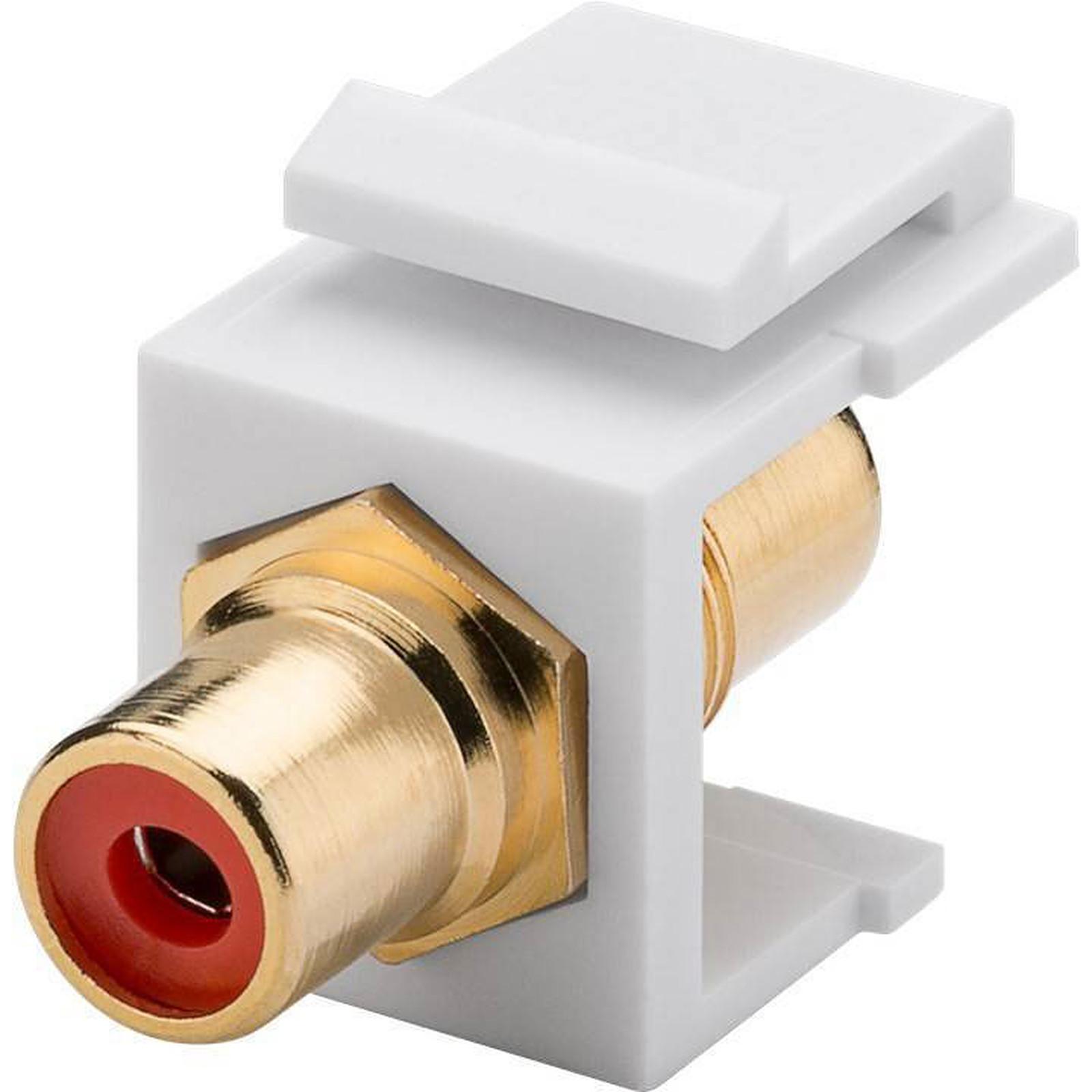 Goobay coupleur RCA rouge pour boitier réseau type Keystone
