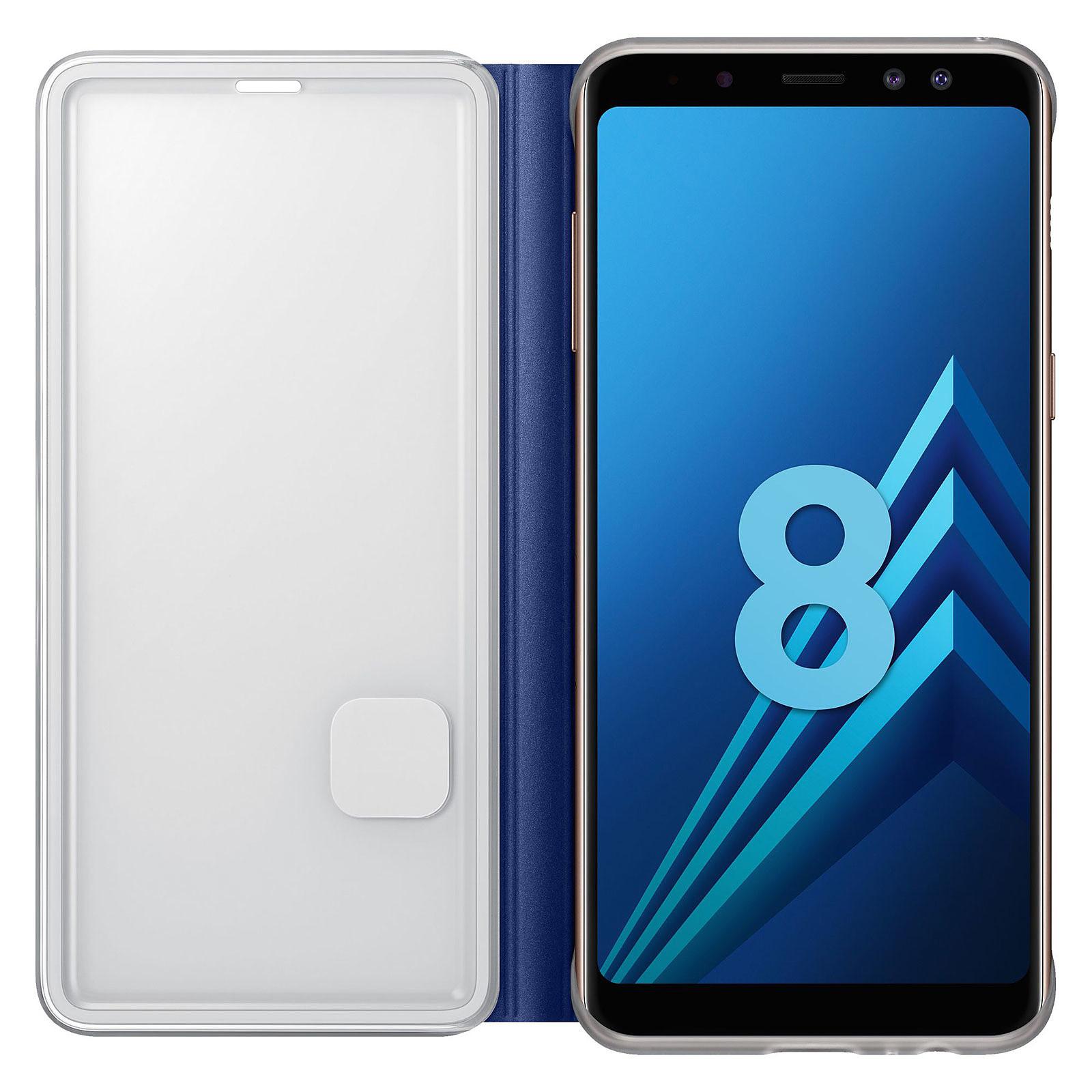 Samsung Flip Cover Néon Bleu Galaxy A8 - Coque téléphone Samsung ...