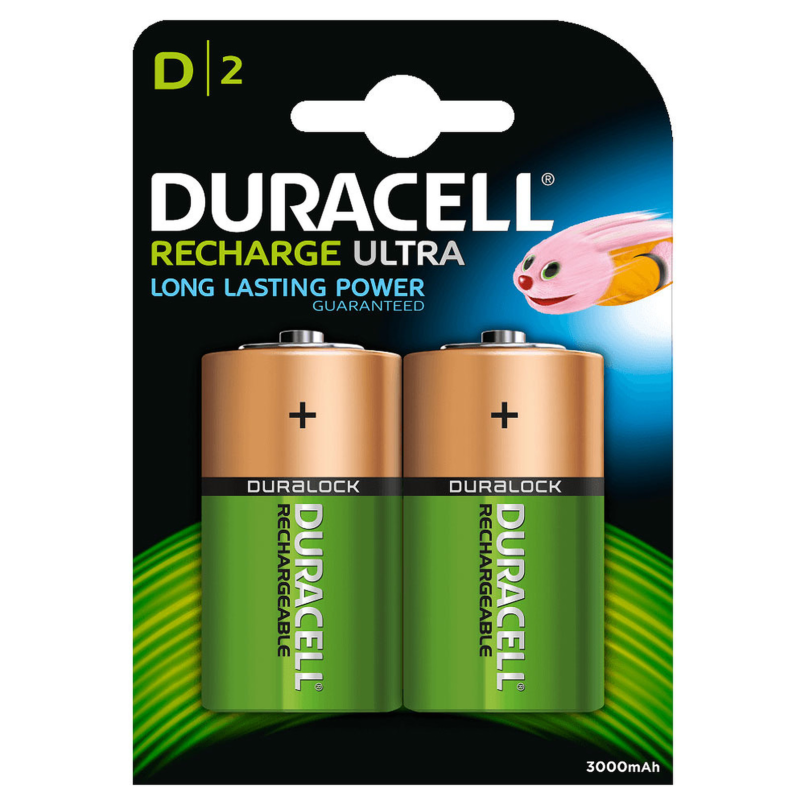 Duracell Recharge Ultra D 3000 mAh (par 2)