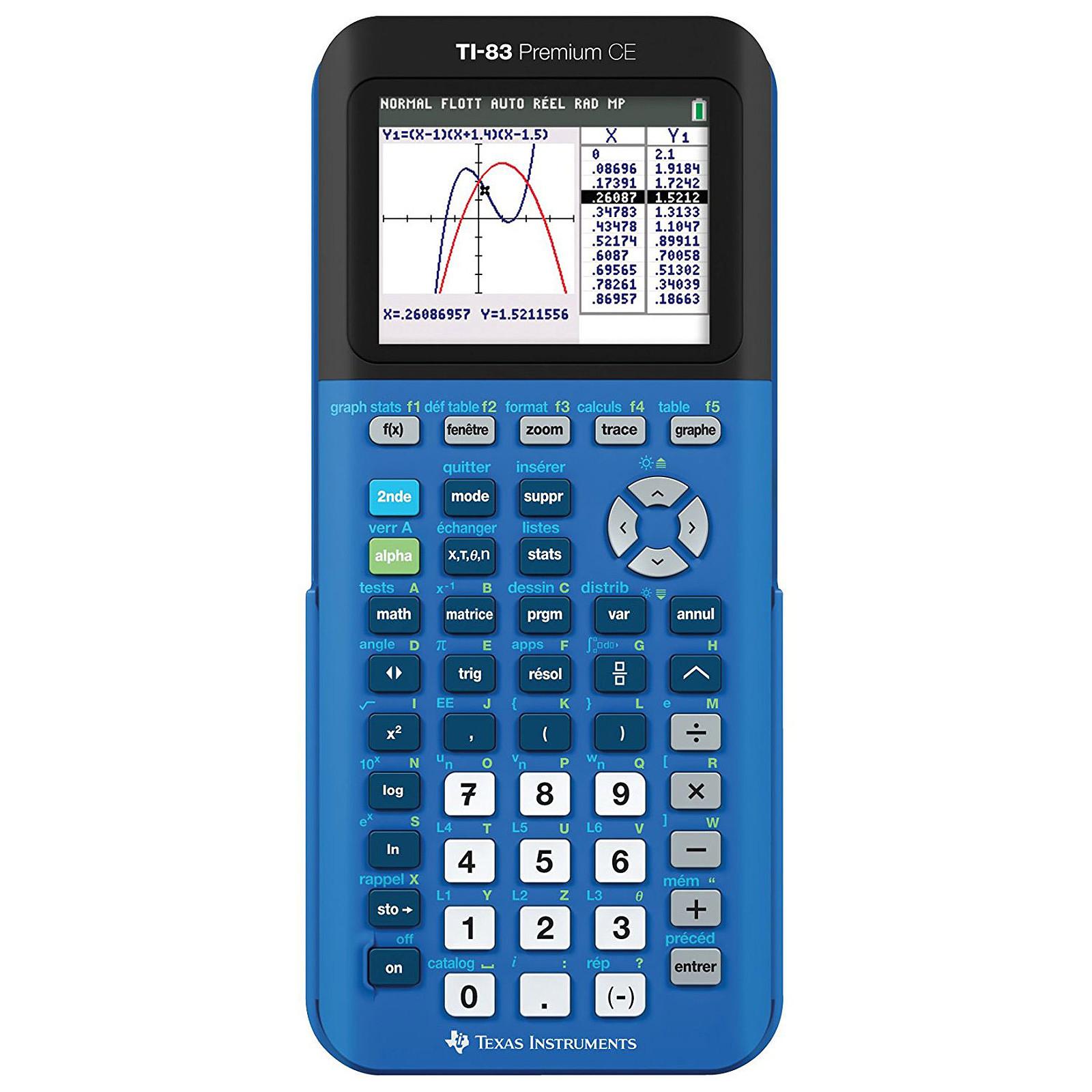 Texas Instruments TI-83 Premium CE - Bleu