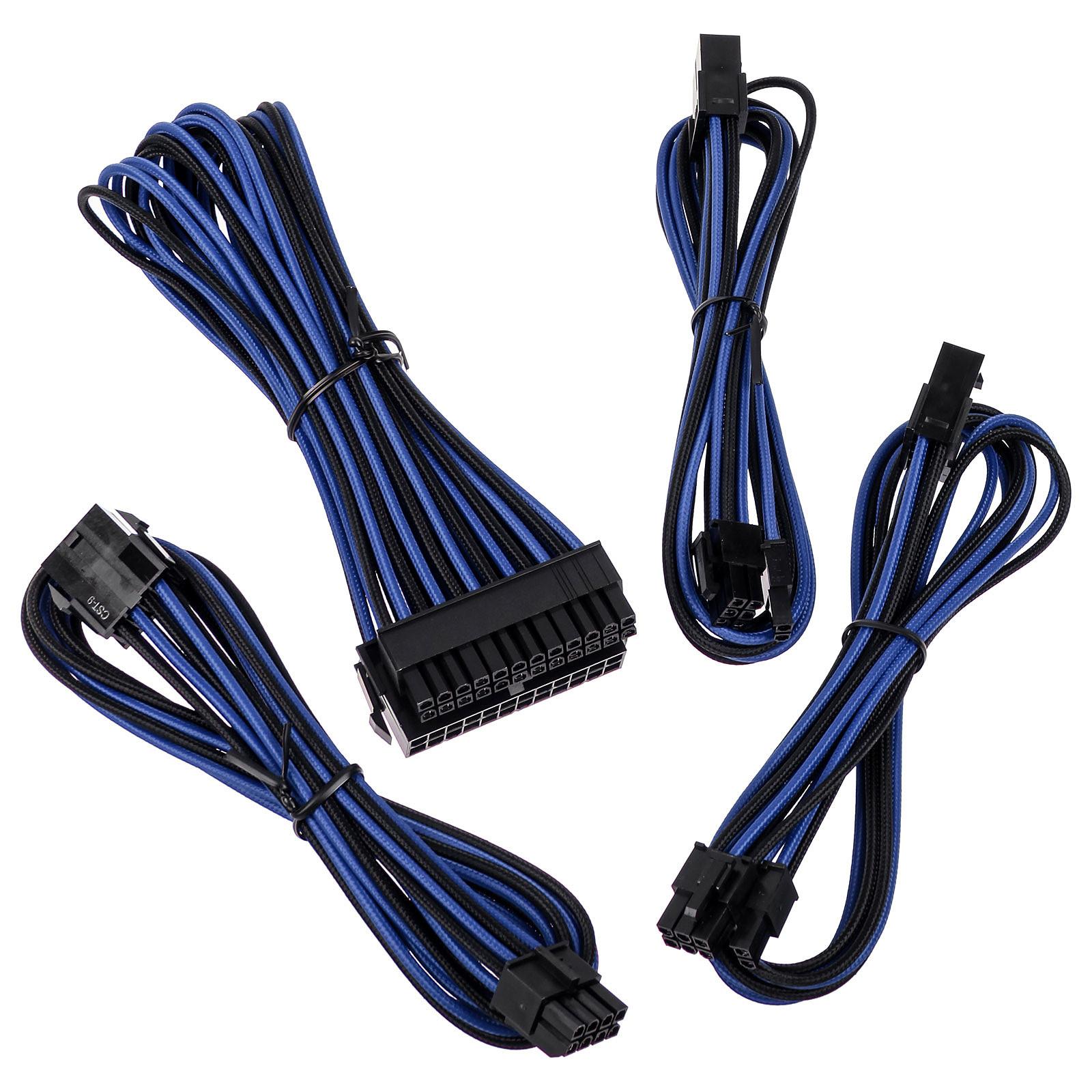 BitFenix Alchemy - Extension Cable Kit - noir et bleu