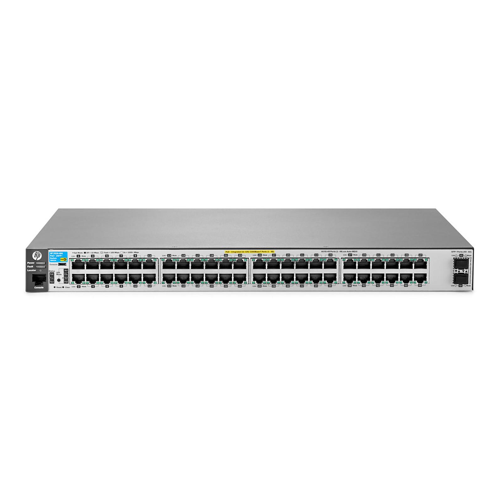 HPE Aruba 2530-48G-PoE+ avec 2 ports SFP+