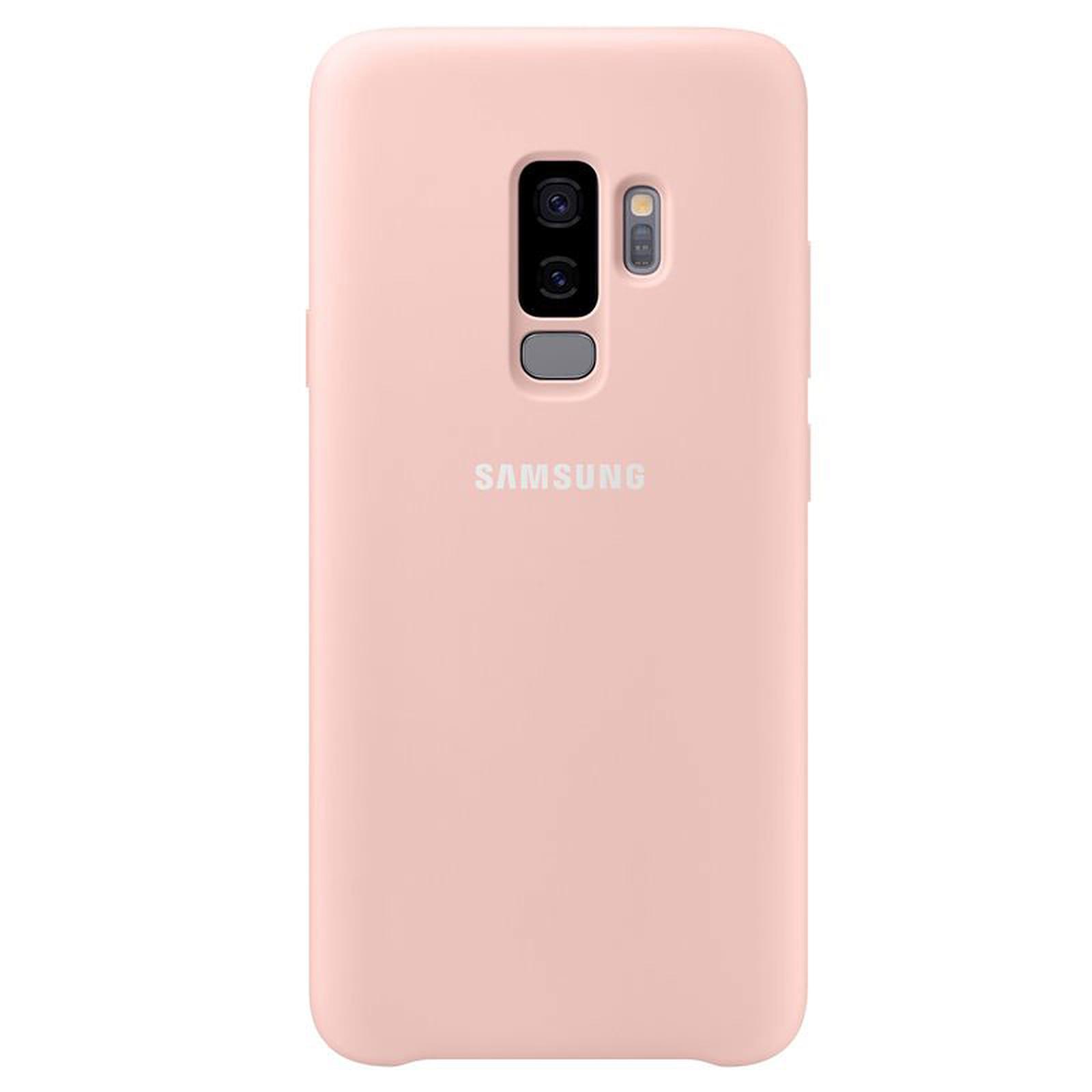 Samsung Coque Silicone Rose Galaxy S9+