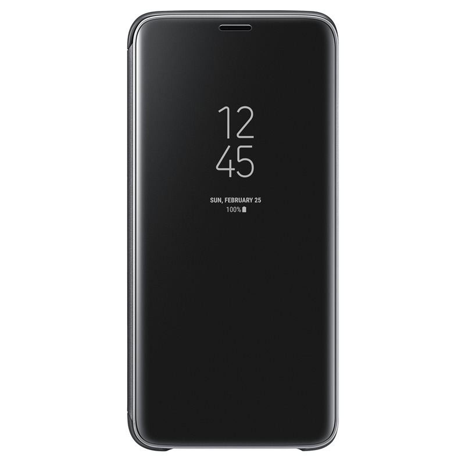 Samsung Clear View Cover Noir Galaxy S9