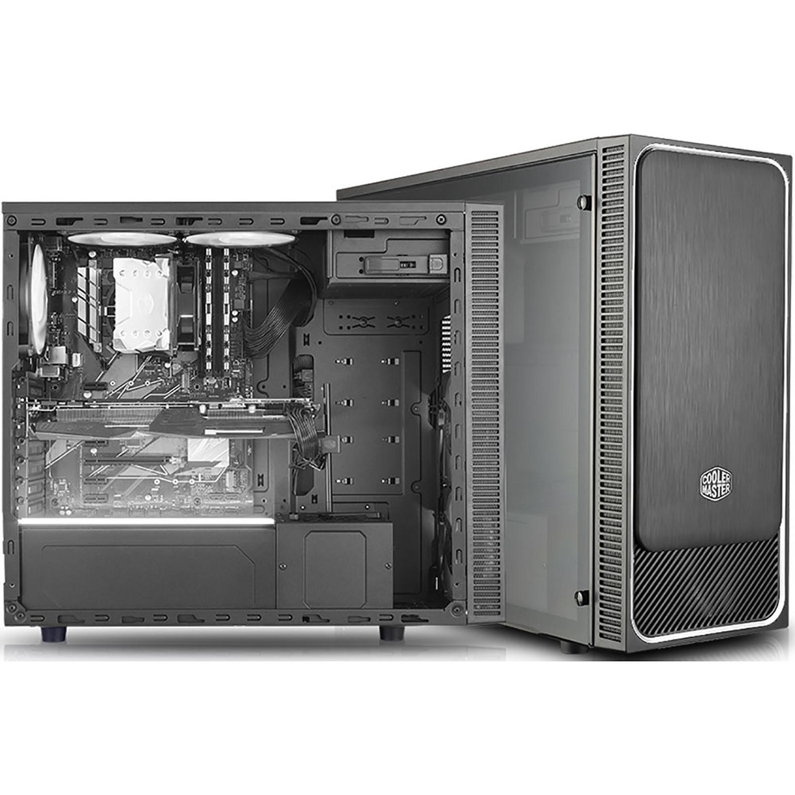 Cooler Master MasterBox E500L Windows Argent