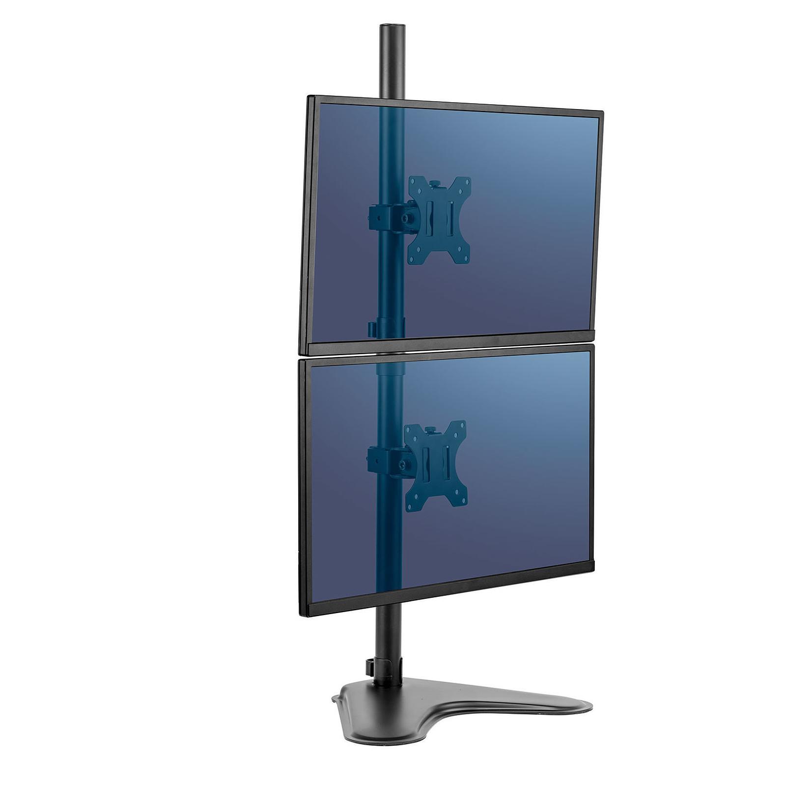 Fellowes Bras, soporte para dos pantallas vertical con pata Professional Series