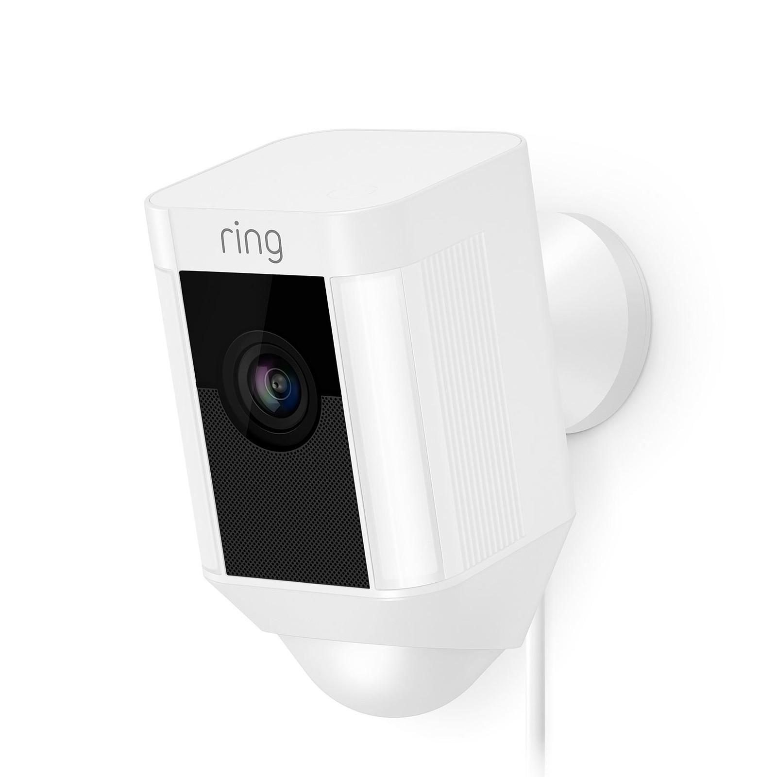 Ring Spotlight Cam Wired Blanc