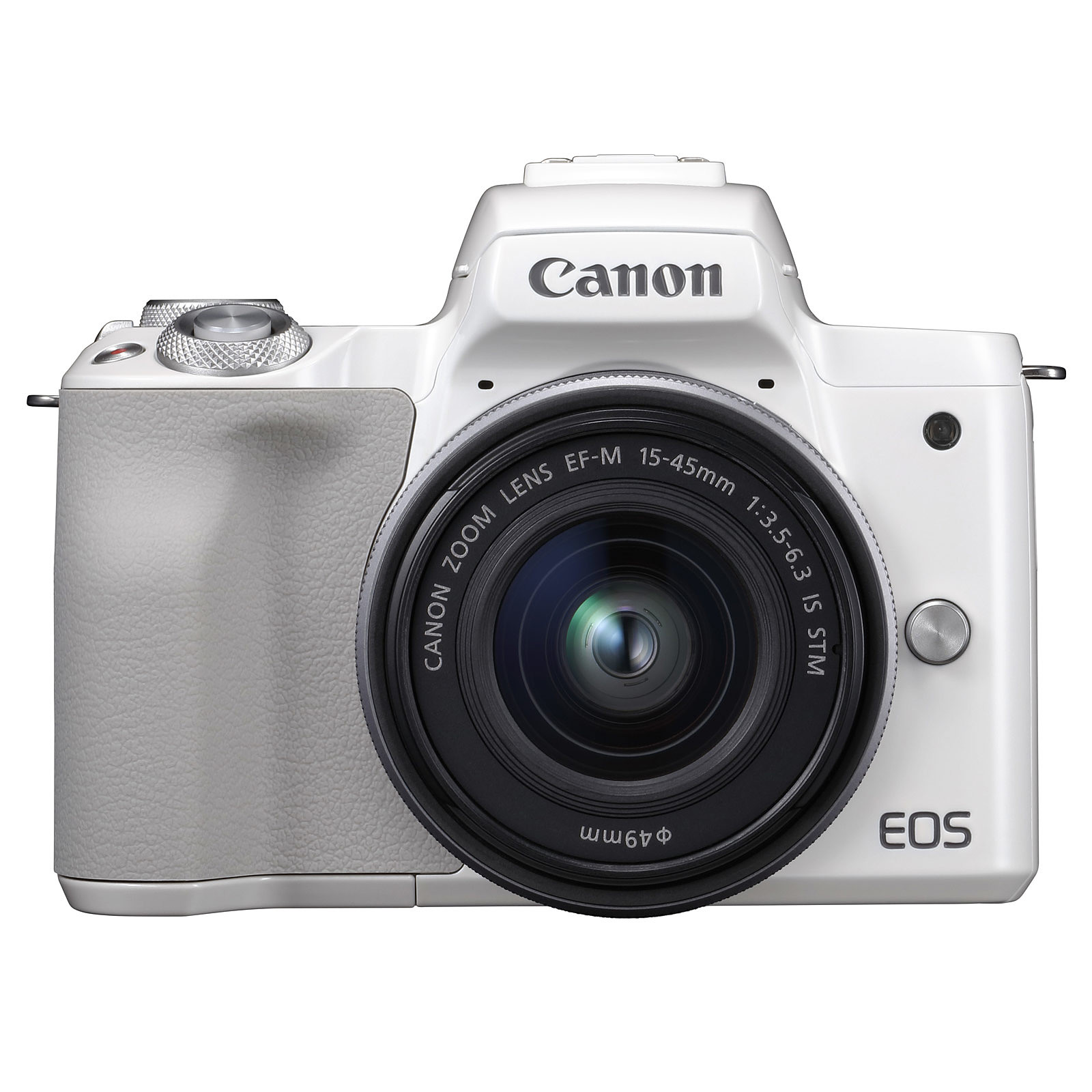 Canon EOS M50 Blanc + EF-M 15-45 mm IS STM Argent