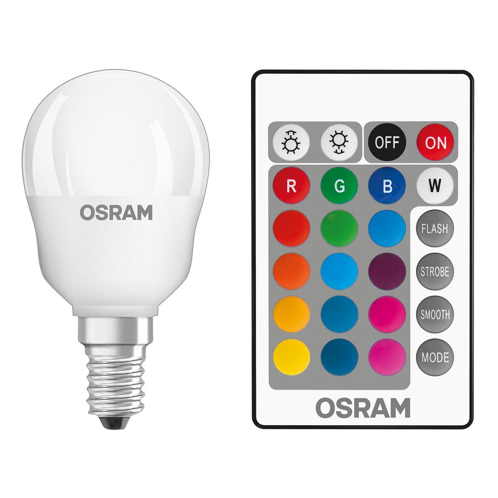 osram ampoule led retrofit rgbw goutte t l commande e14 4. Black Bedroom Furniture Sets. Home Design Ideas