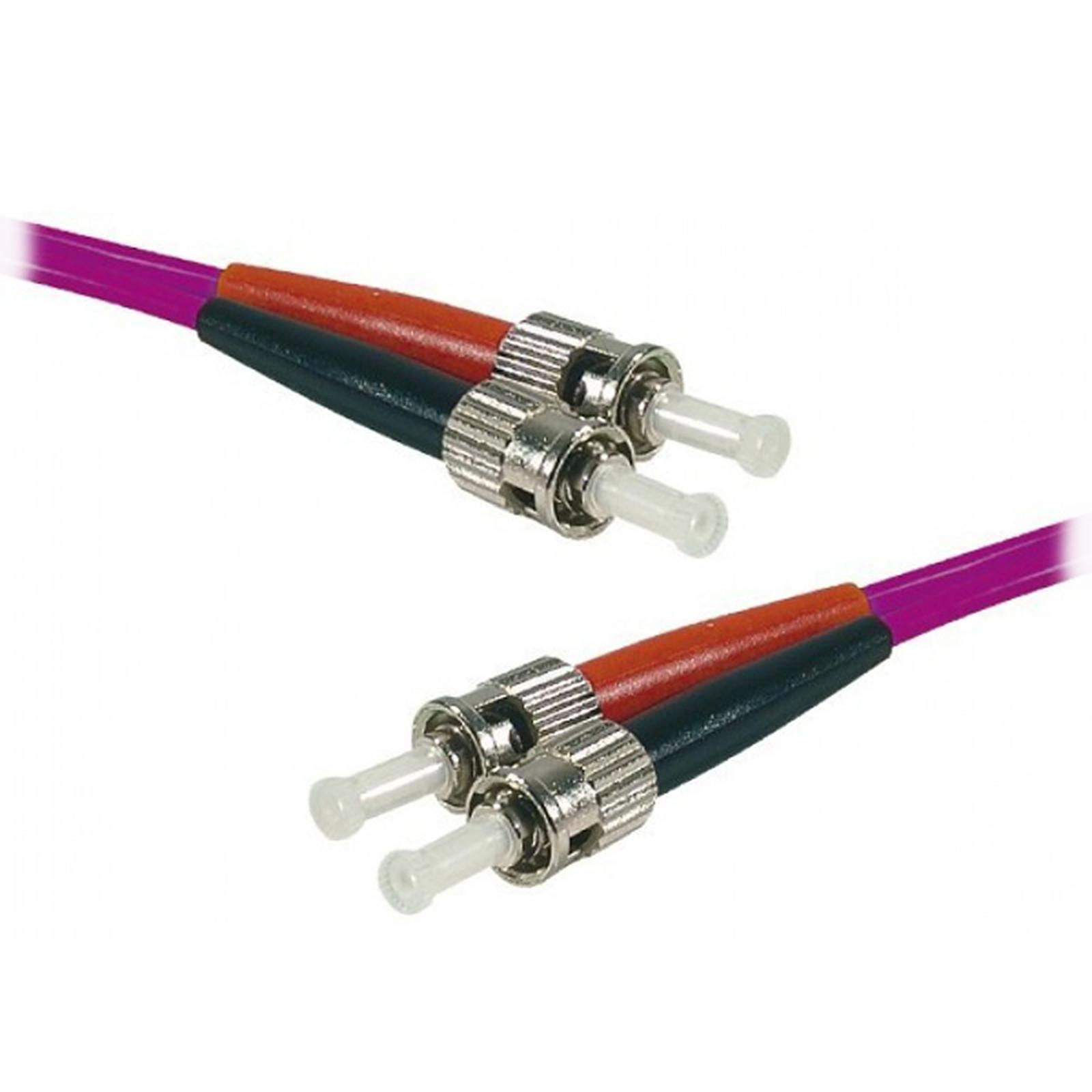 Jarretière optique duplex multimode 2mm OM4 ST-UPC/ST-UPC (5 mètres)