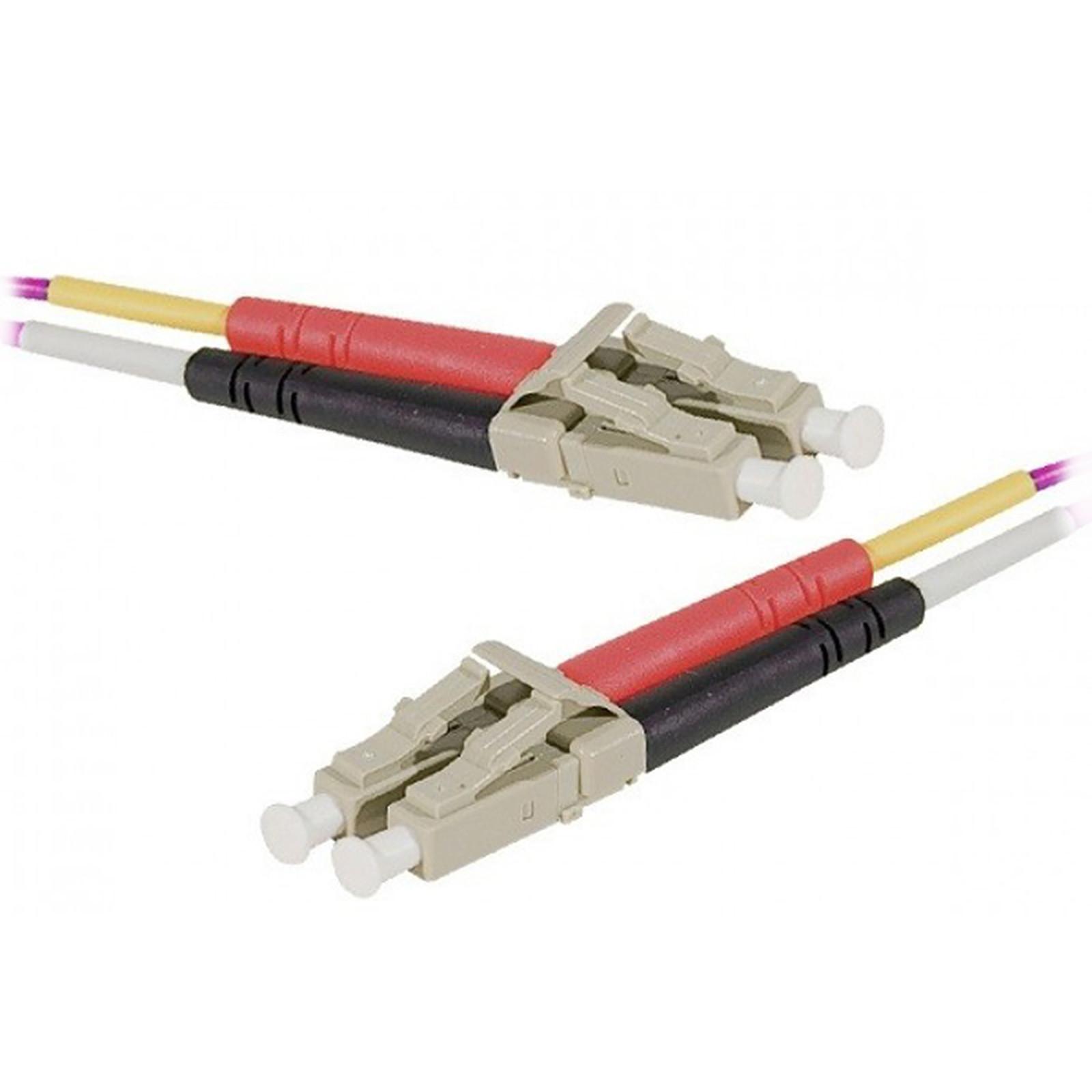 Jarretière optique duplex multimode 2mm OM4 LC-UPC/LC-UPC (3 mètres)