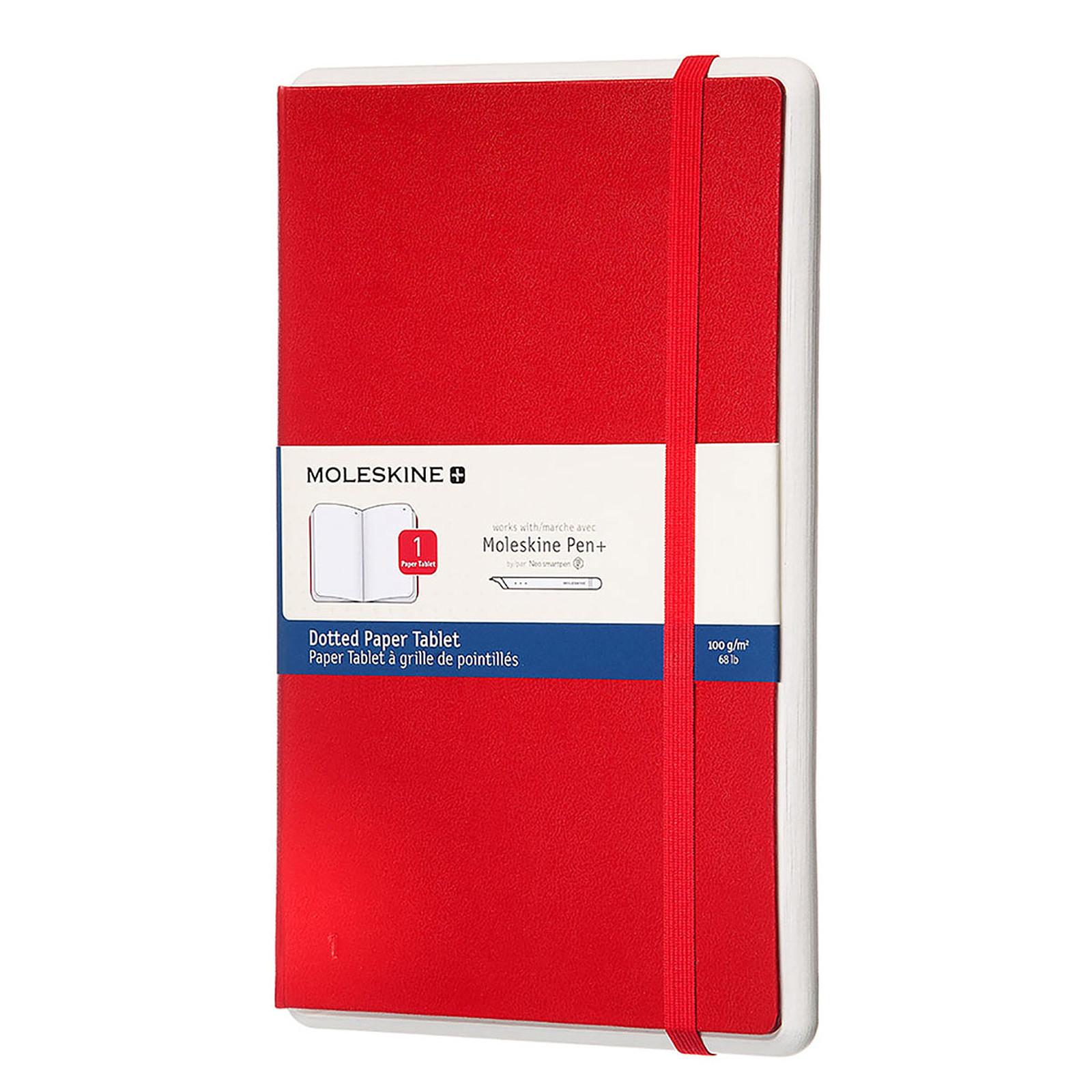 Moleskine Paper Tablet Hardcover Large Dotted Rouge