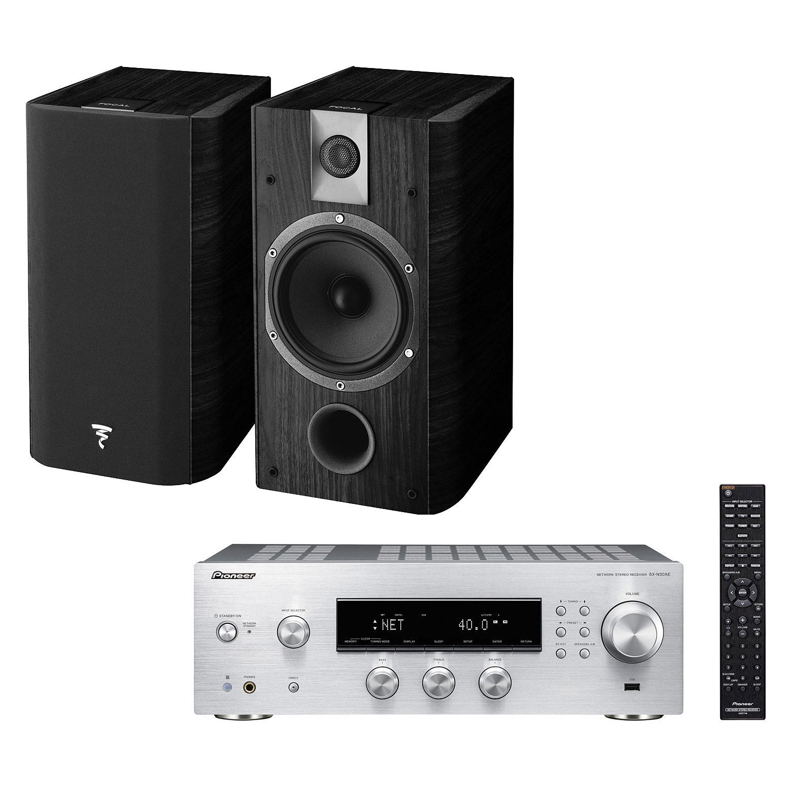 Pioneer SX-N30AE Argent + Focal Chorus 605 Black Style