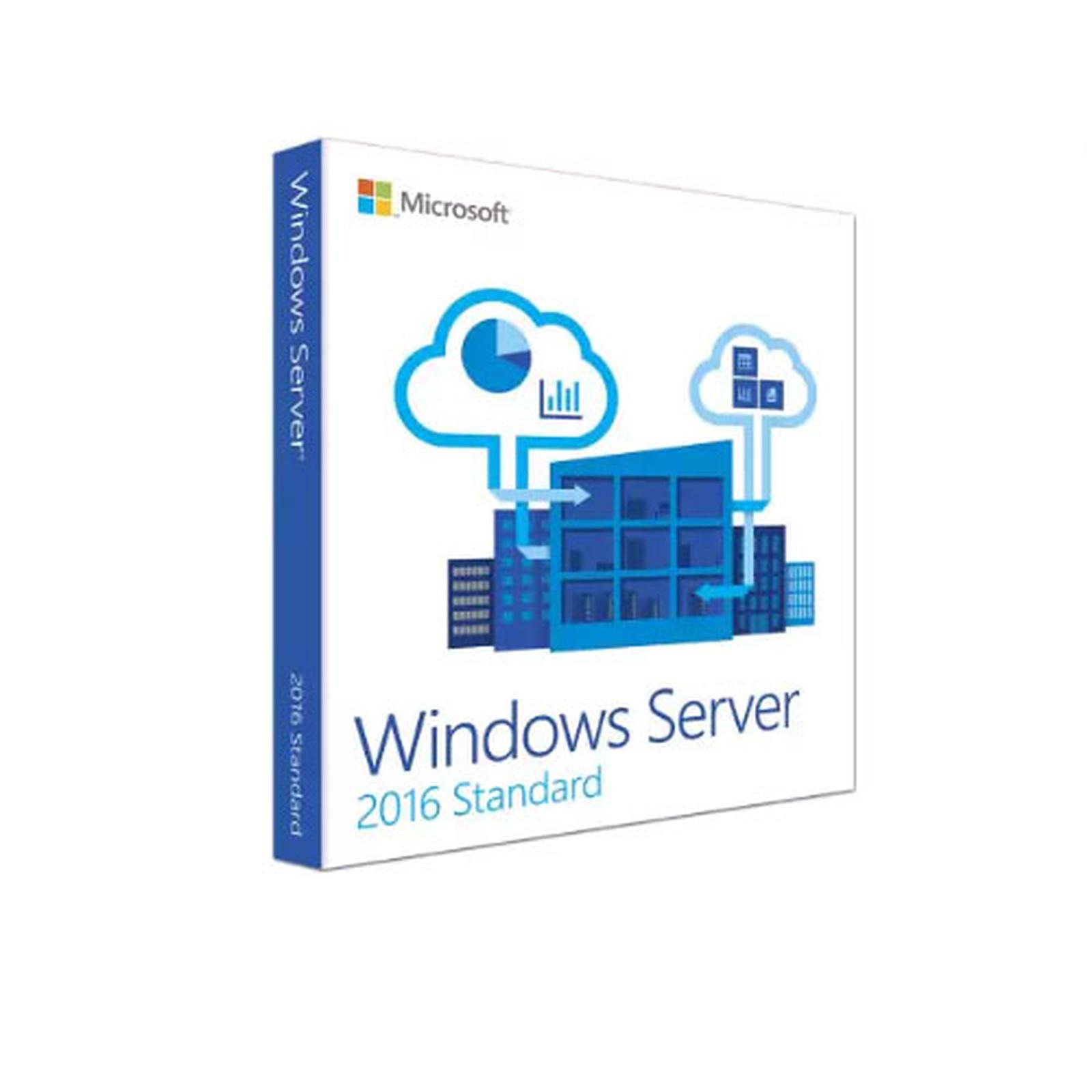 Microsoft Windows Server Standard 2016 (16 coeurs)