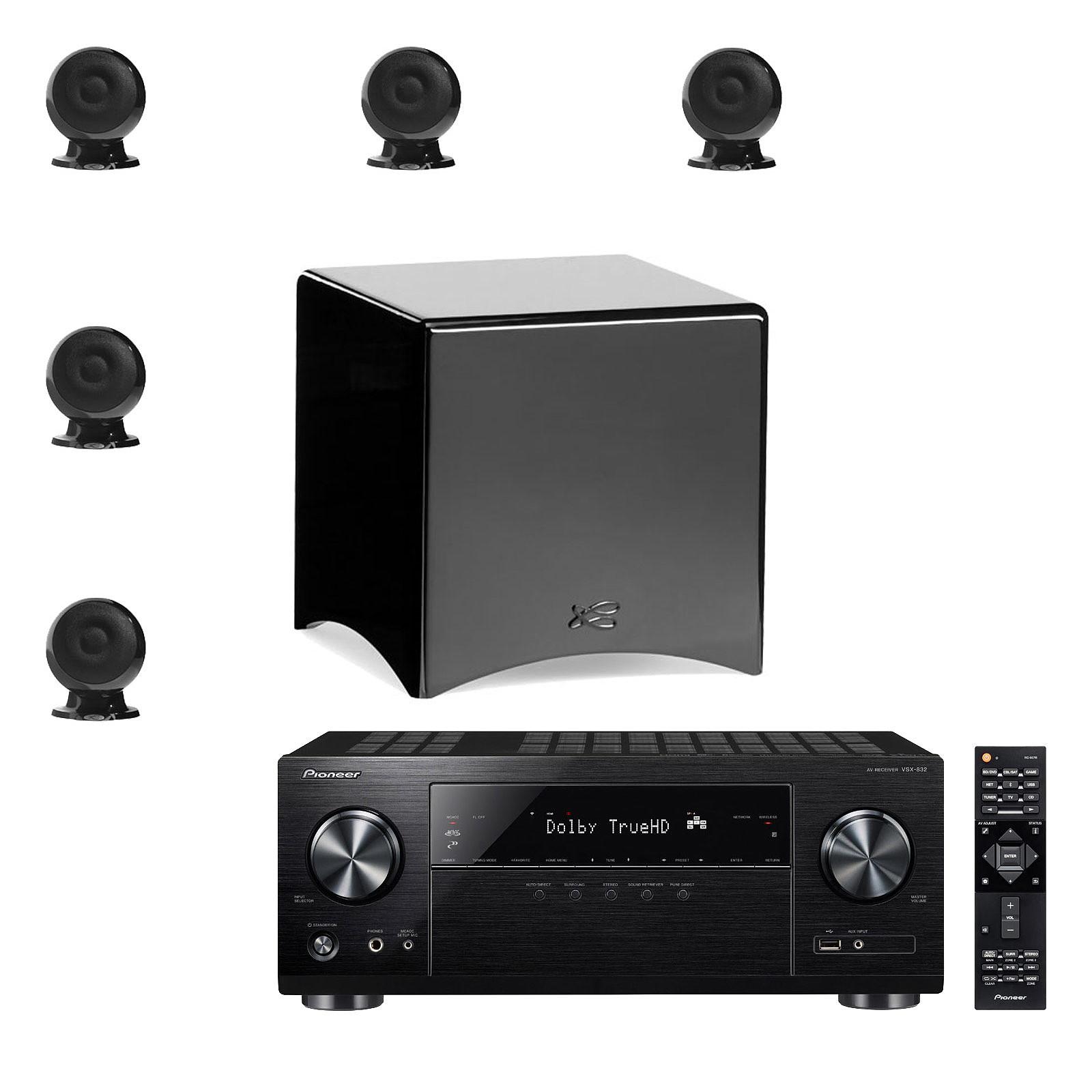 Pioneer VSX-832 Noir + Cabasse Eole 3 5.1 WS Noir