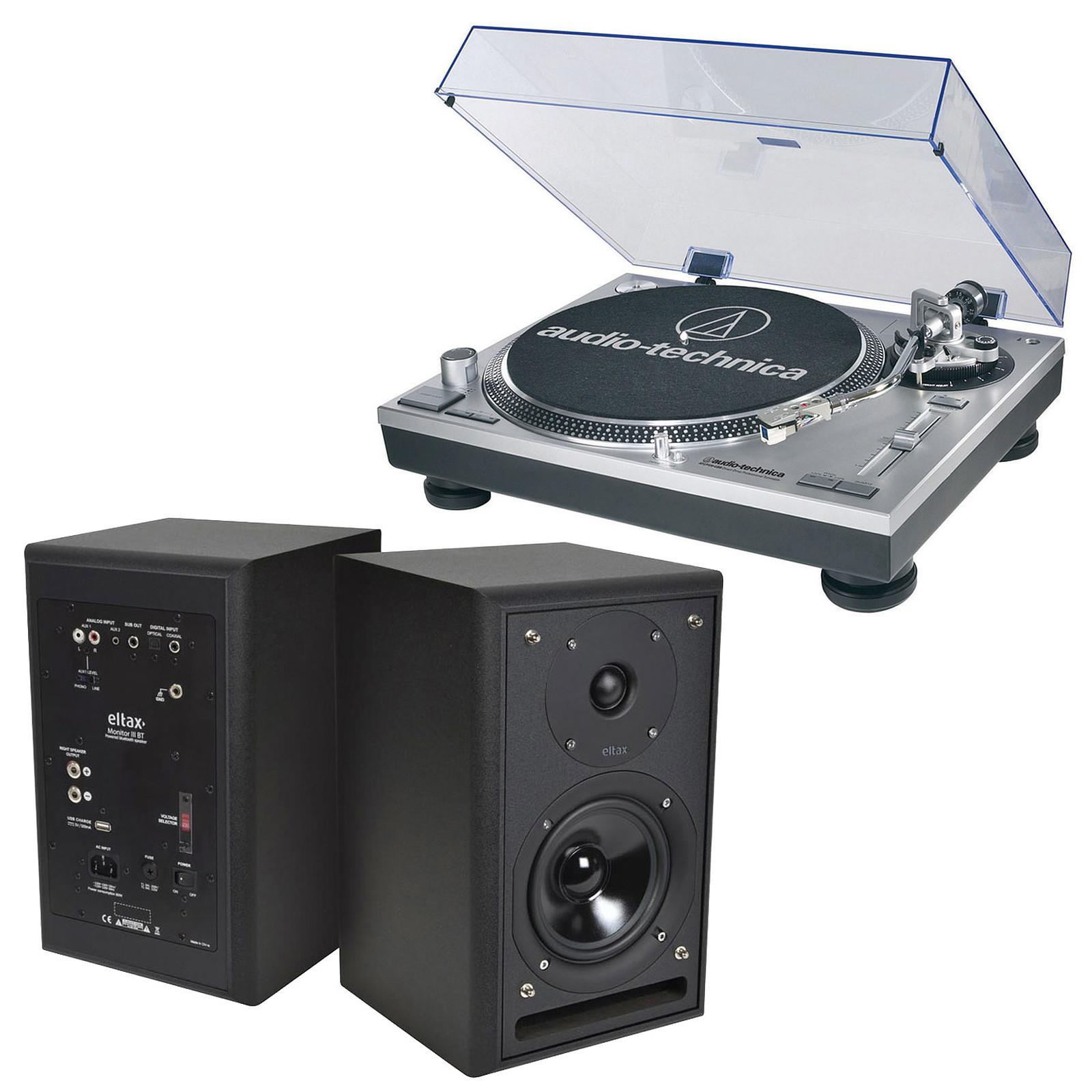 Audio-Technica AT-LP120USBHC + Eltax Monitor III BT Phono Noir