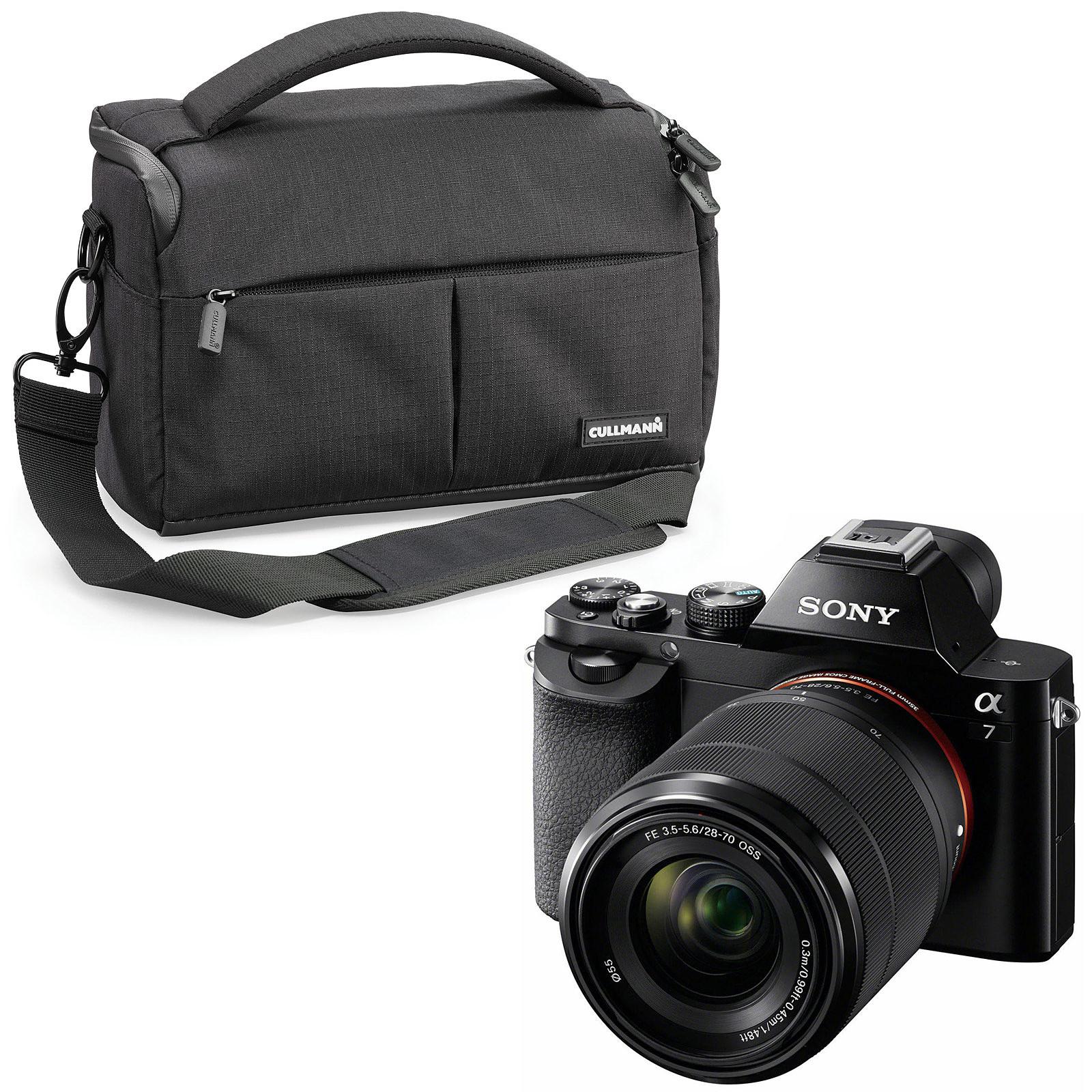 Sony Alpha 7 + Objectif 28-70 mm + Cullmann Malaga Maxima 70 Noir