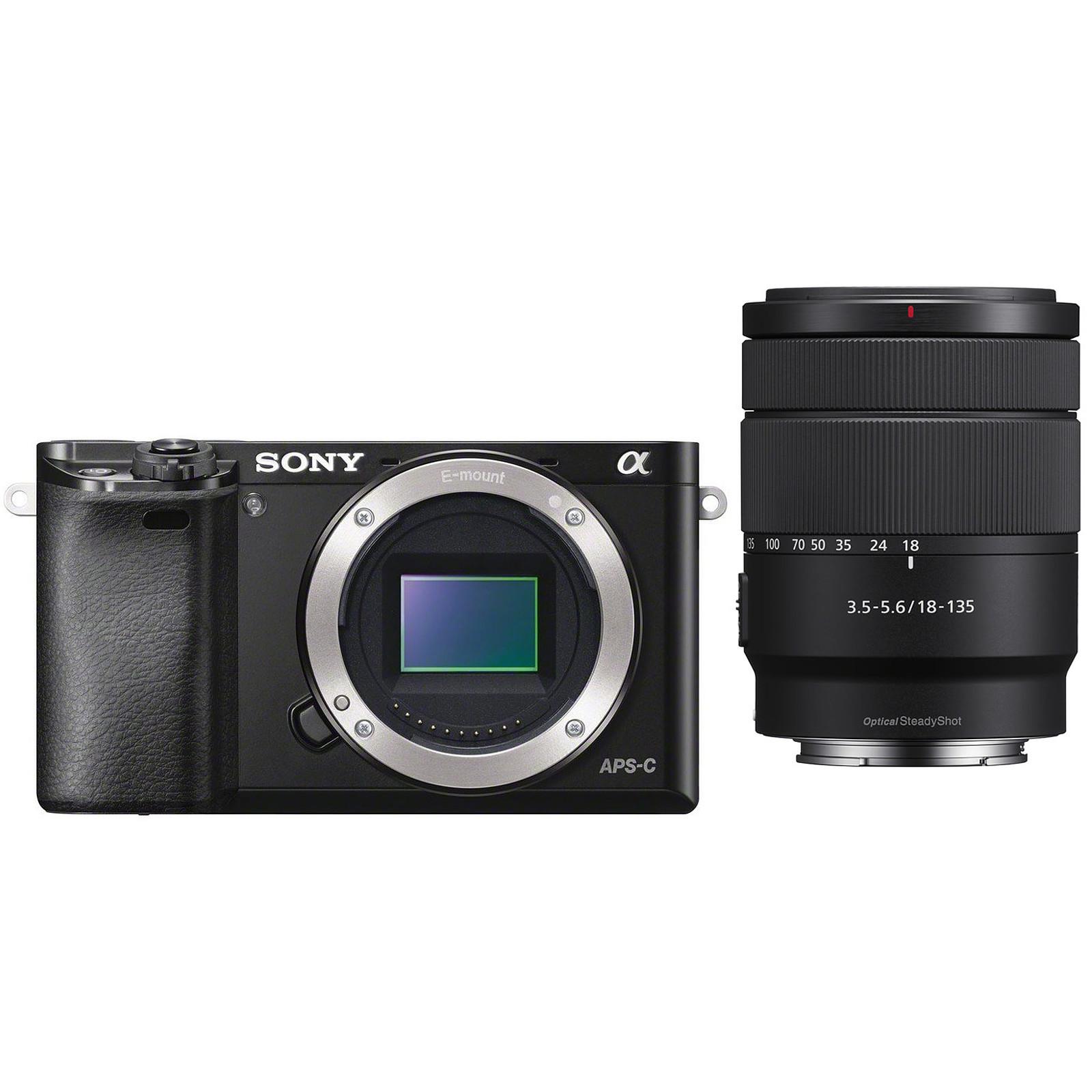 Sony Alpha 6000 + Objectif 18-135 mm Noir