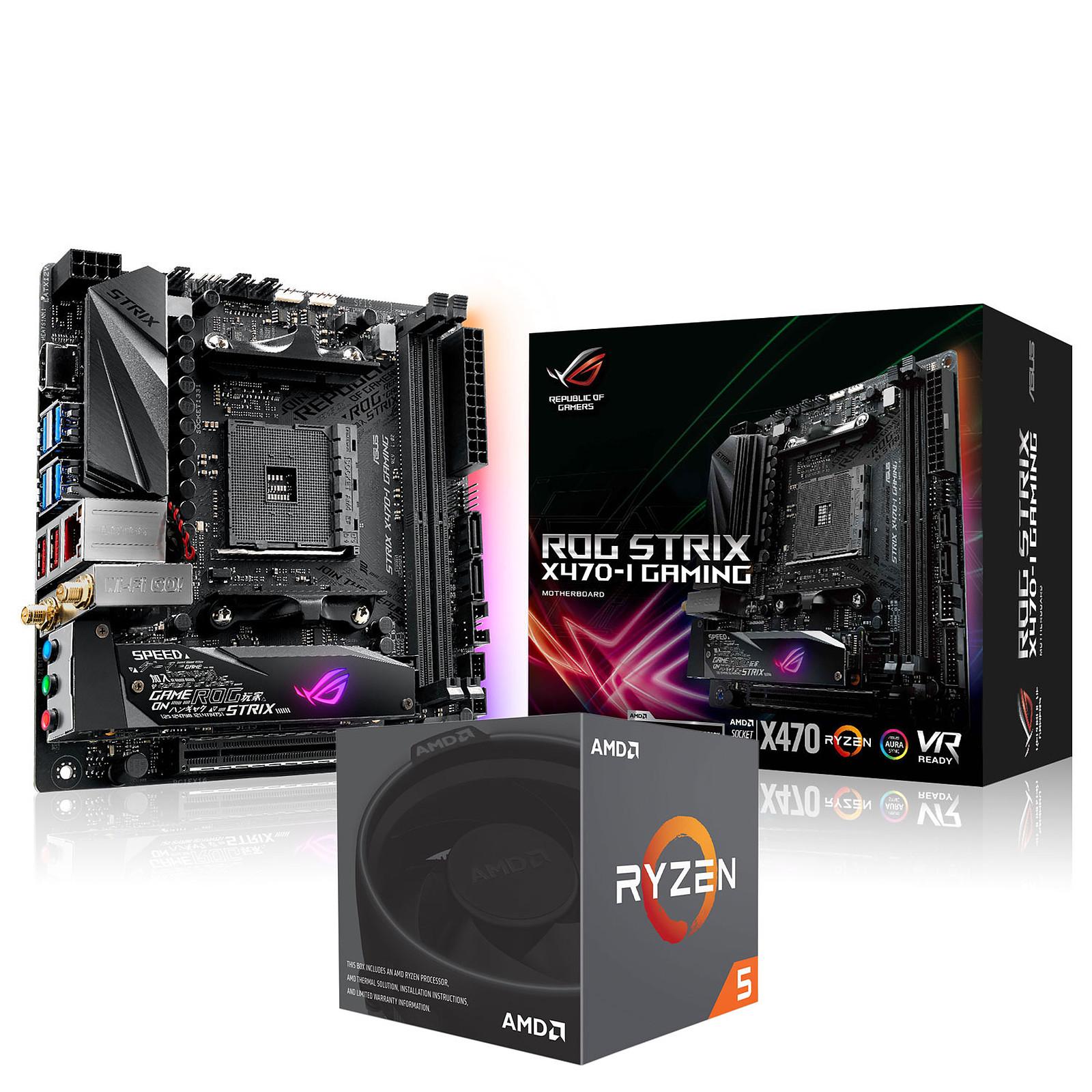 ASUS ROG STRIX X470-I GAMING + AMD Ryzen 5 2600