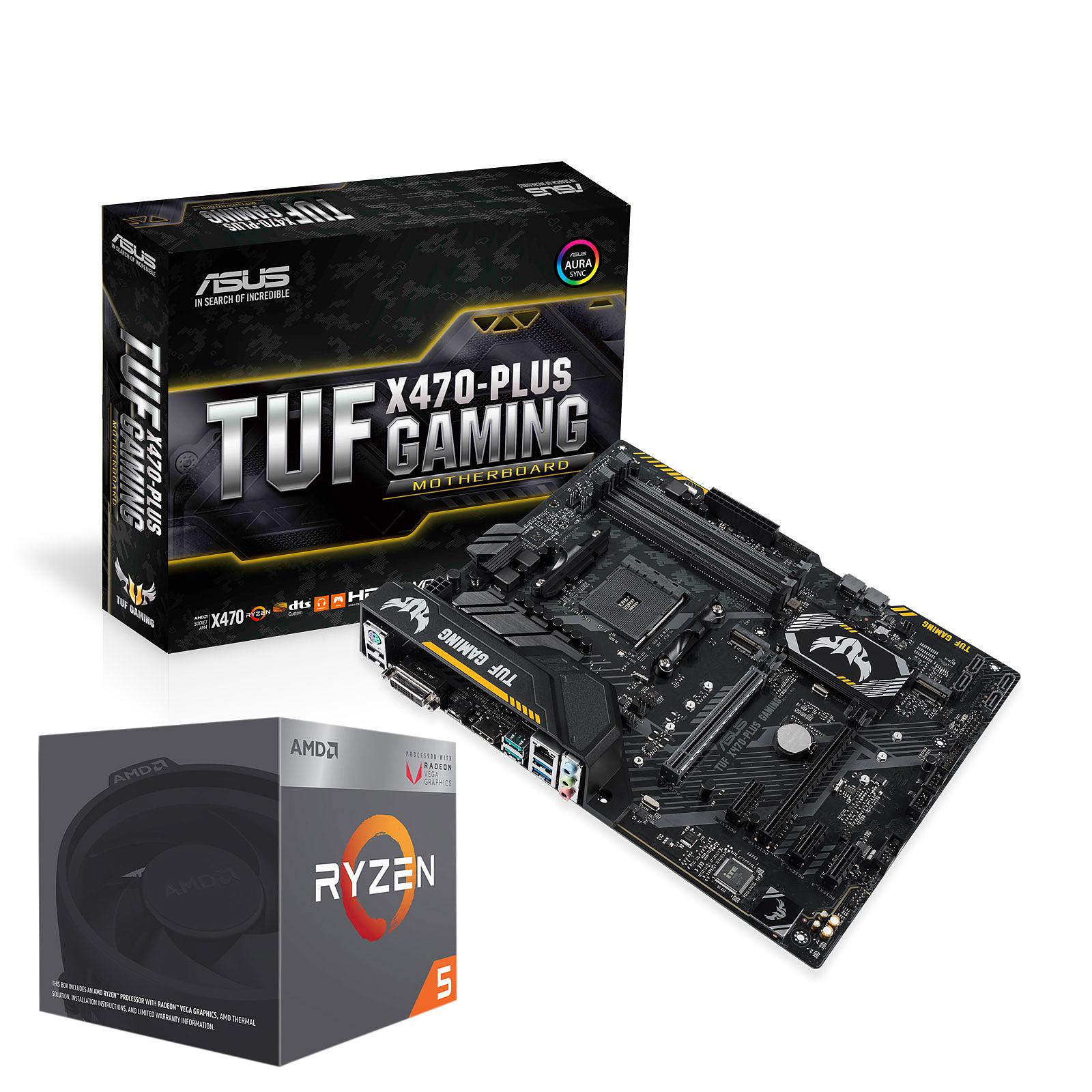 ASUS TUF X470-PLUS GAMING + AMD Ryzen 5 2400G