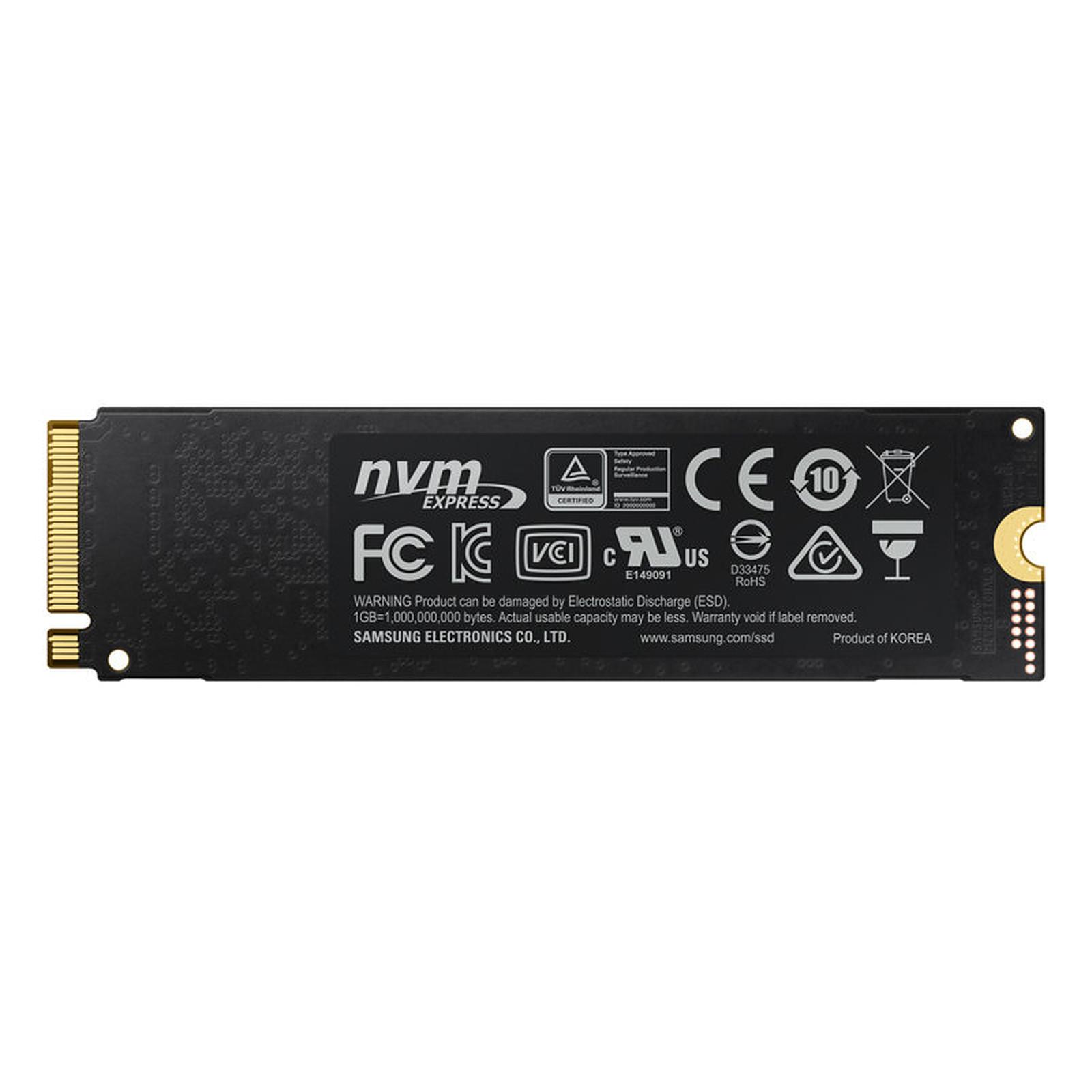 Samsung SSD 970 PRO M 2 PCIe NVMe 512 Go