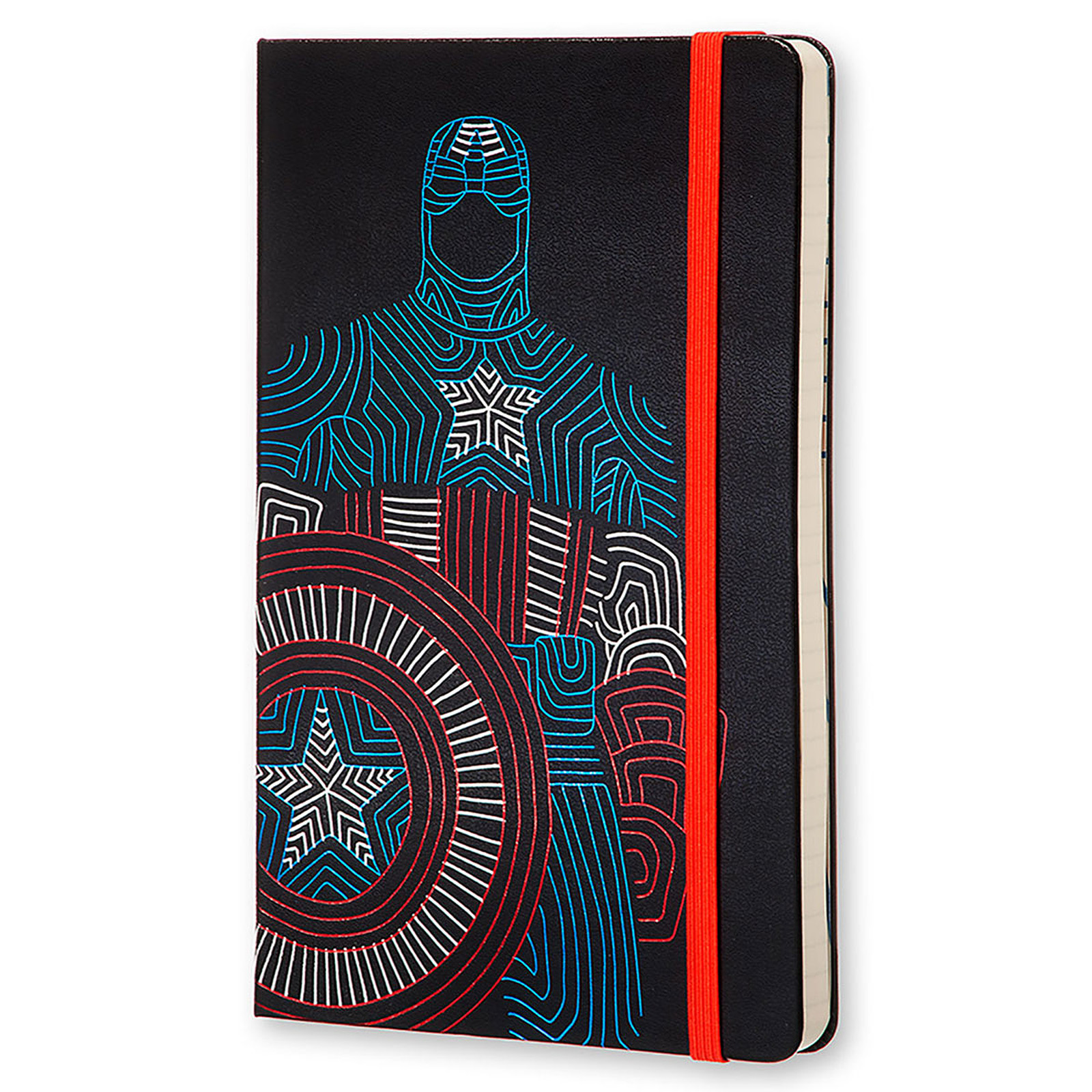 Moleskine The Avengers Captain America Ruled Large Noir