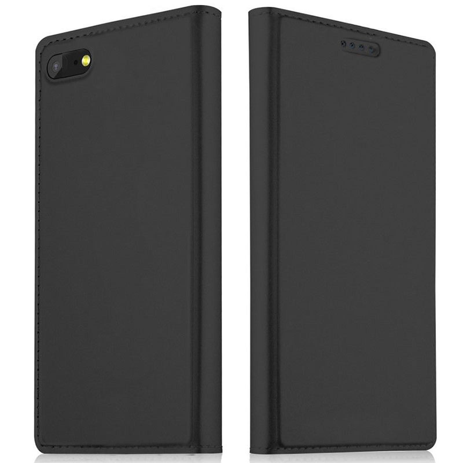 Akashi Etui Folio Porte Carte Noir Huawei Y5 2018