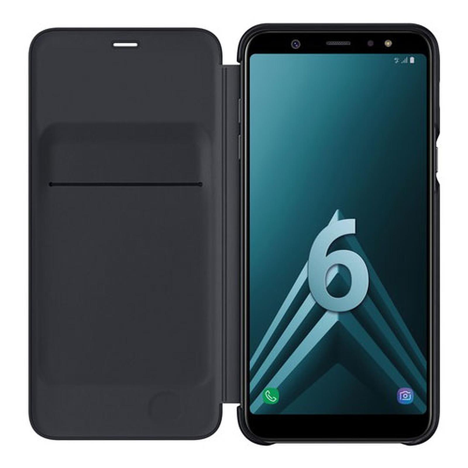 Samsung Flip Wallet negro Galaxy A6+ 2018