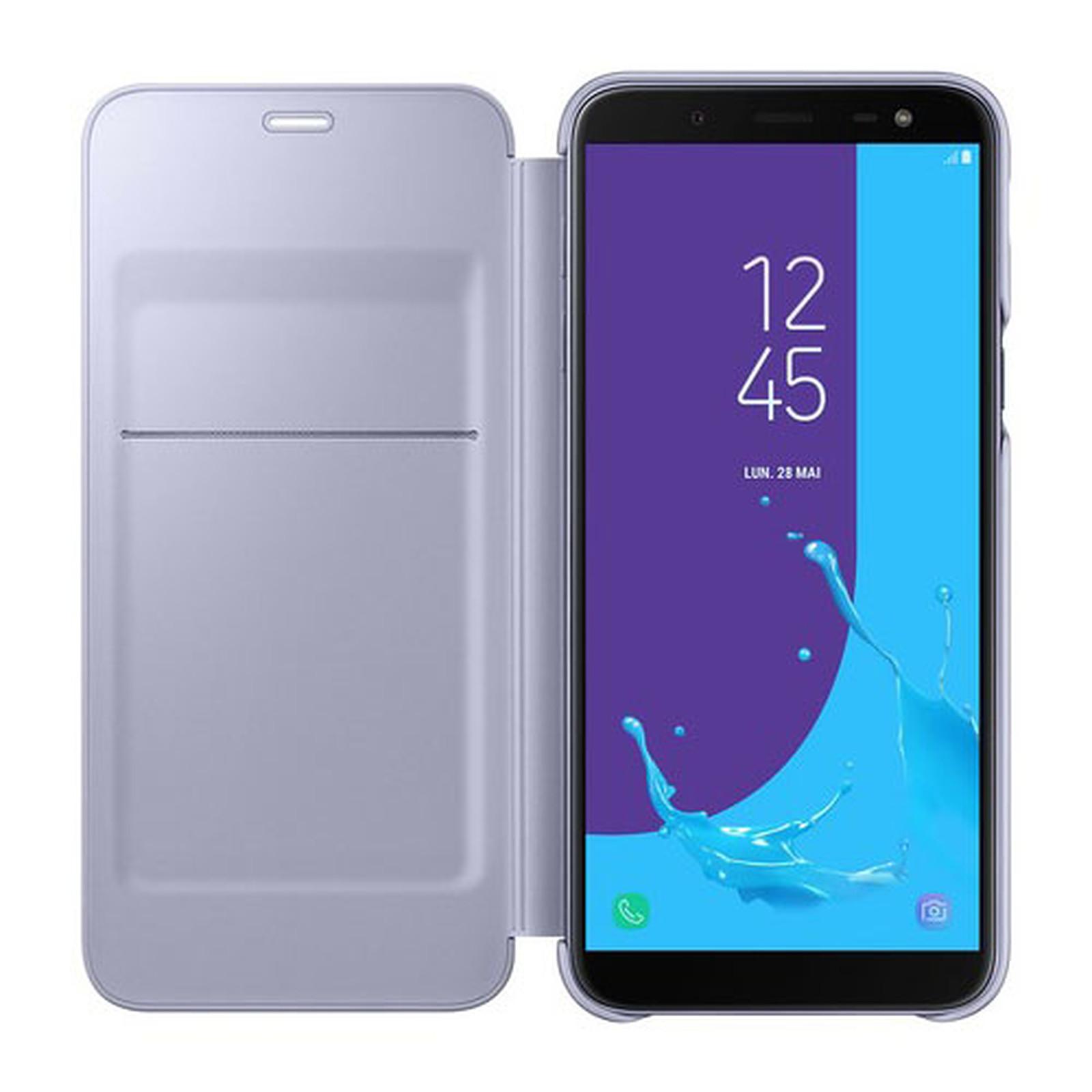 ddb45c1cb19 Samsung Flip Wallet Lavande Galaxy J6 2018 - Funda de teléfono ...