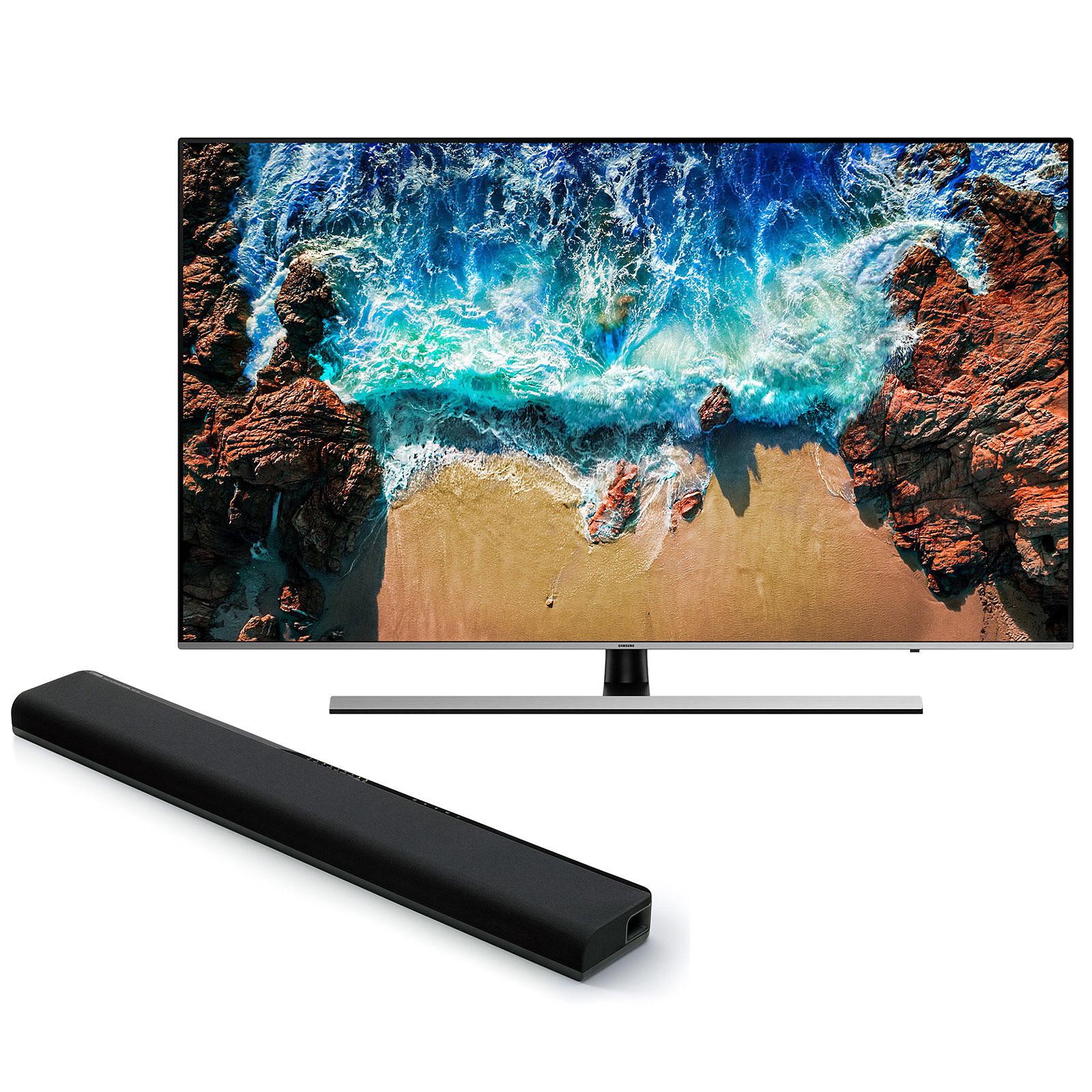 samsung ue49nu8005 yamaha musiccast yas 306 noir tv. Black Bedroom Furniture Sets. Home Design Ideas