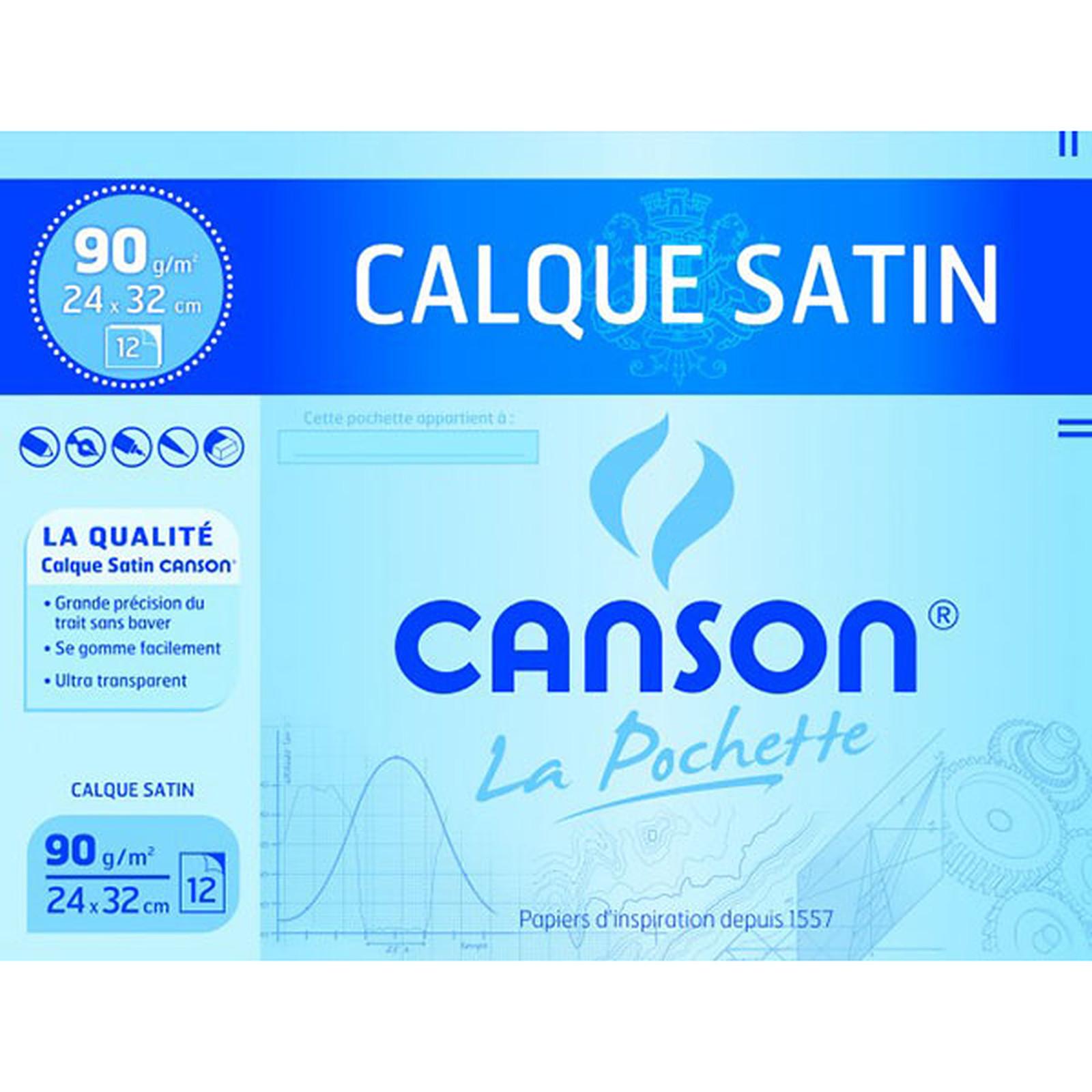 Canson Pochette calque satin 90g 24x32