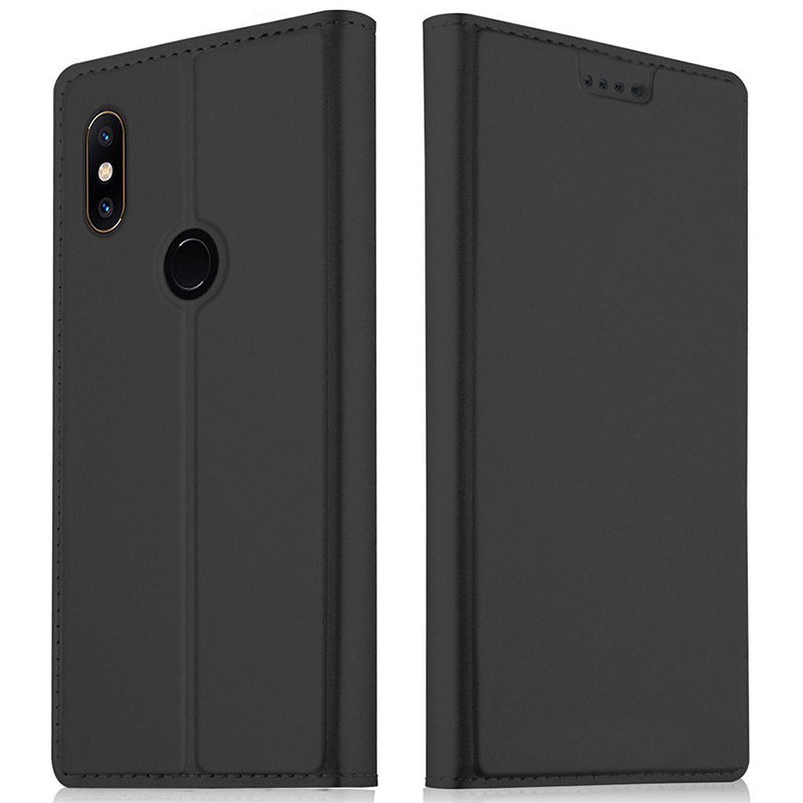 Akashi Etui Folio Porte Carte Noir Xiaomi Redmi S2