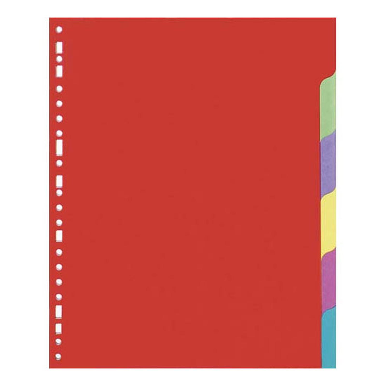 Intercalaires en carte lustrée 3/10 Format A4 6 positions
