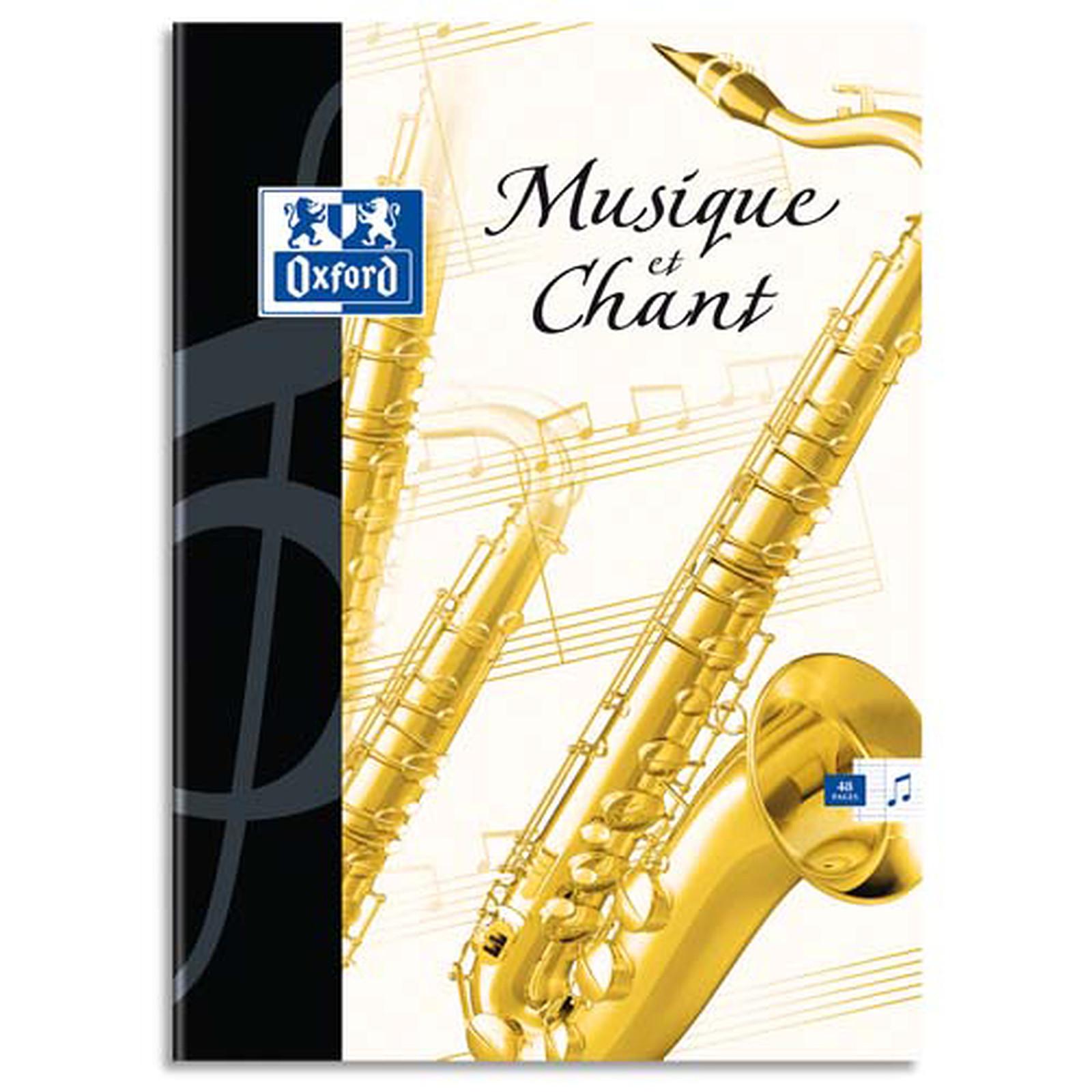 Oxford Essential Cahier Musique 48 pages 24 x 32 cm Seyès